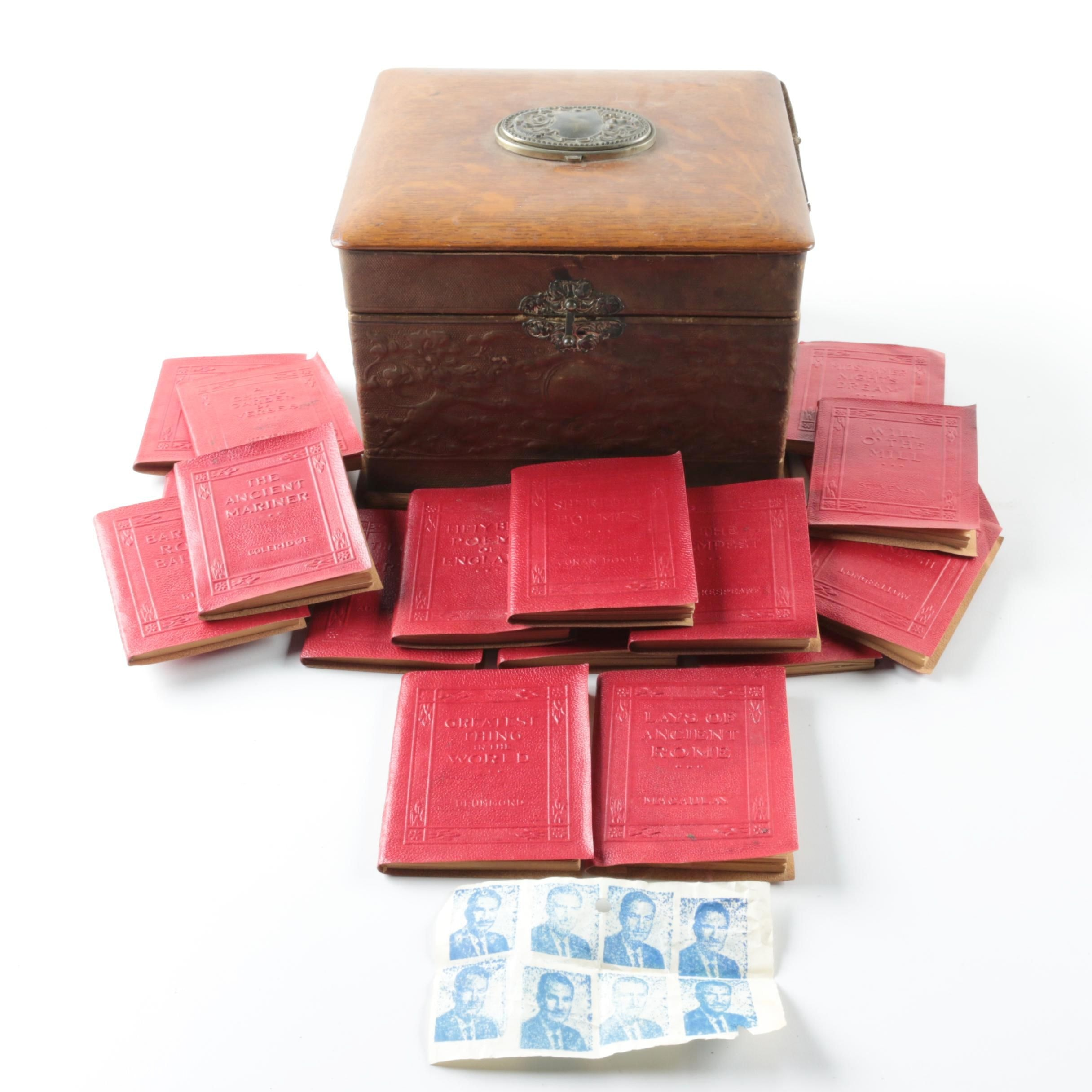Antique Jewelry Box with Miniature Books