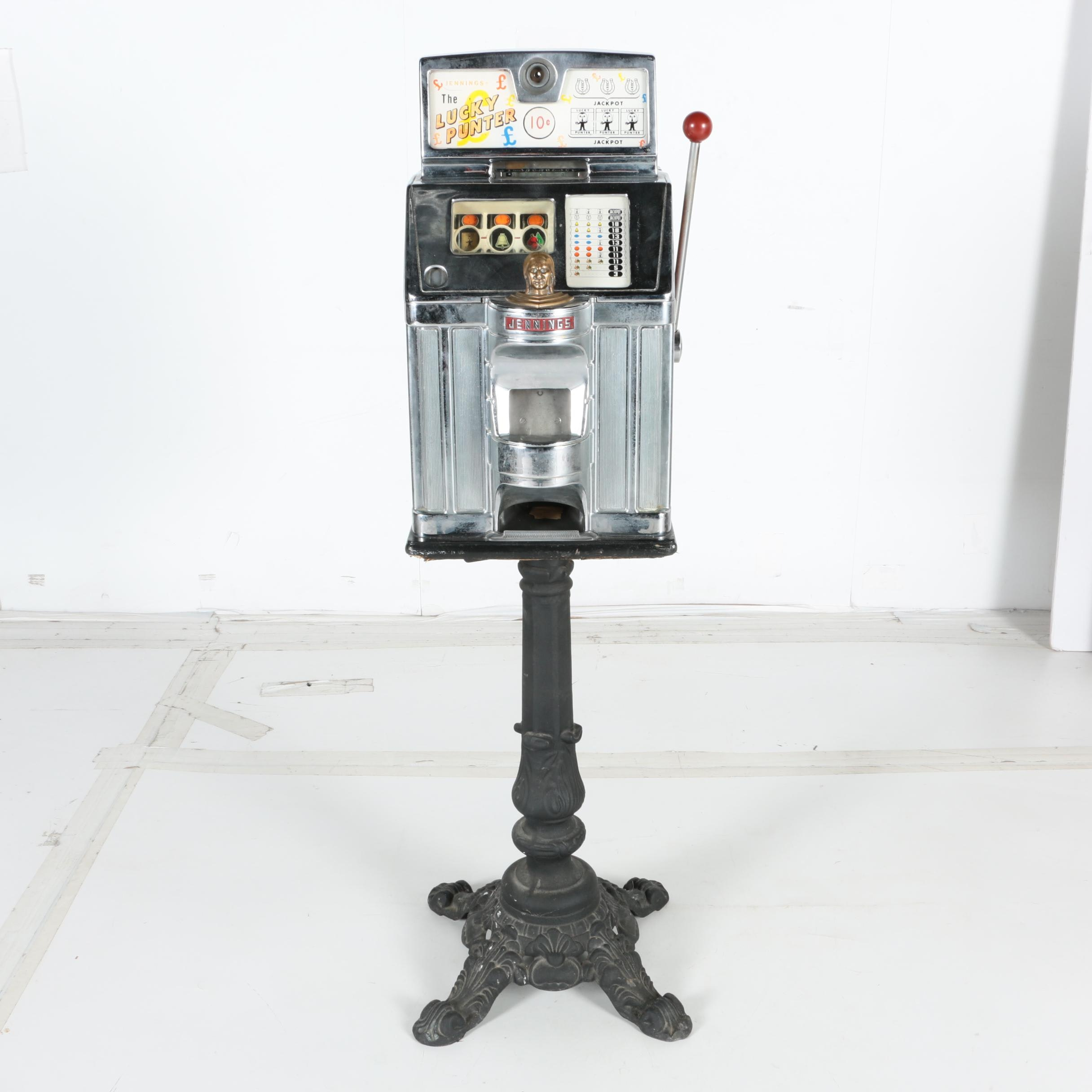 """Vintage """"Lucky Punter"""" Slot Machine with Stand"""