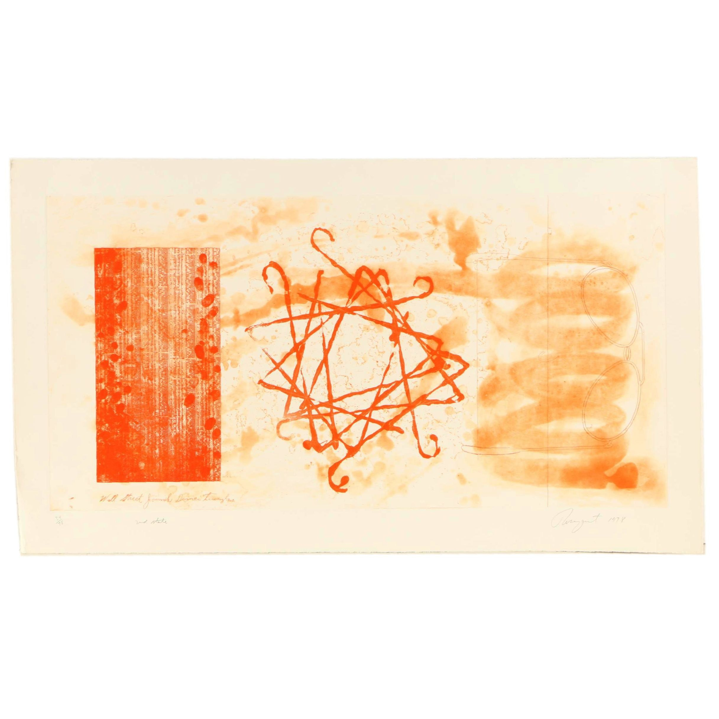 """James Rosenquist Limited Edition Print """"Wall Street Journal, Dinner Triangles"""""""