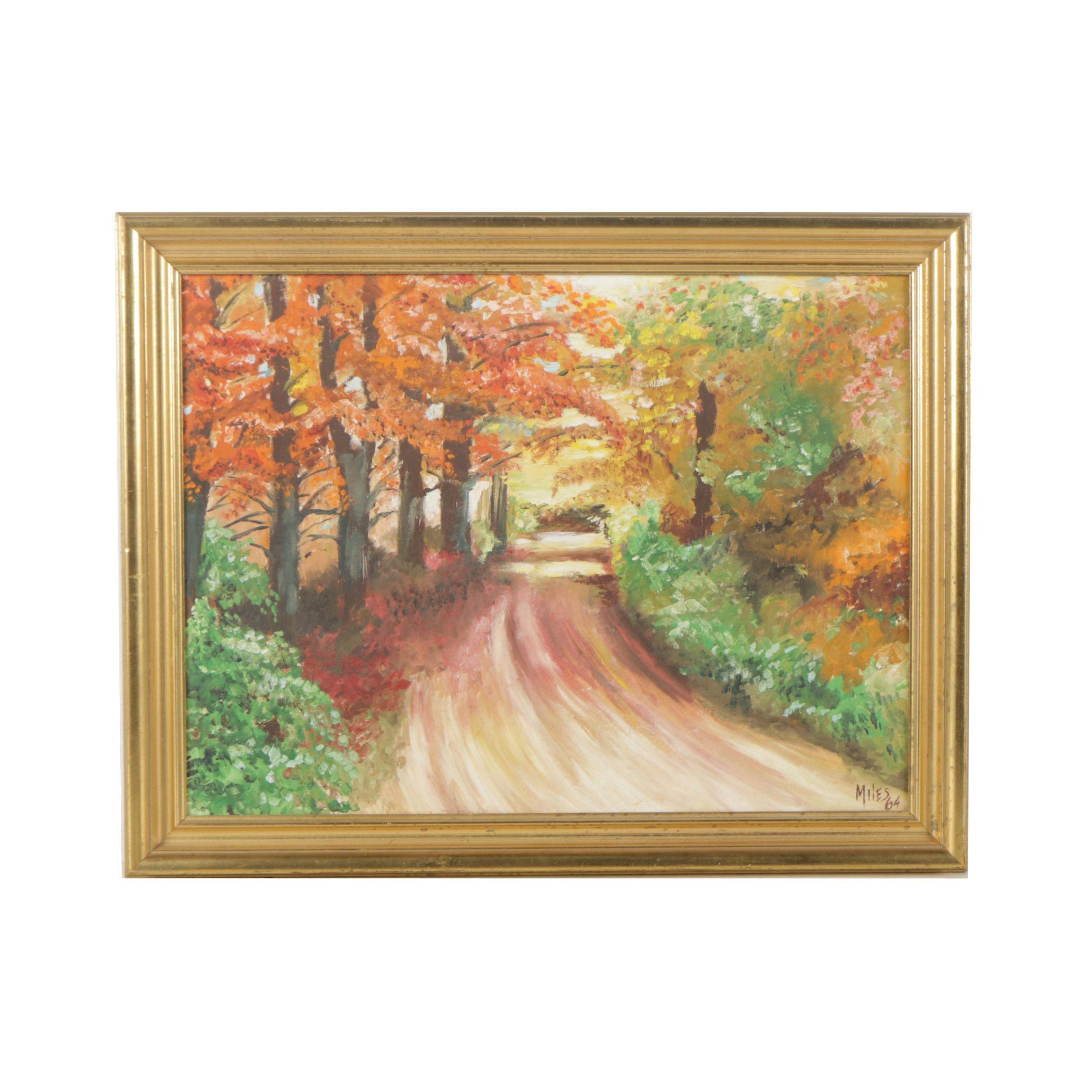 Original Oil Painting Signed Miles 1964