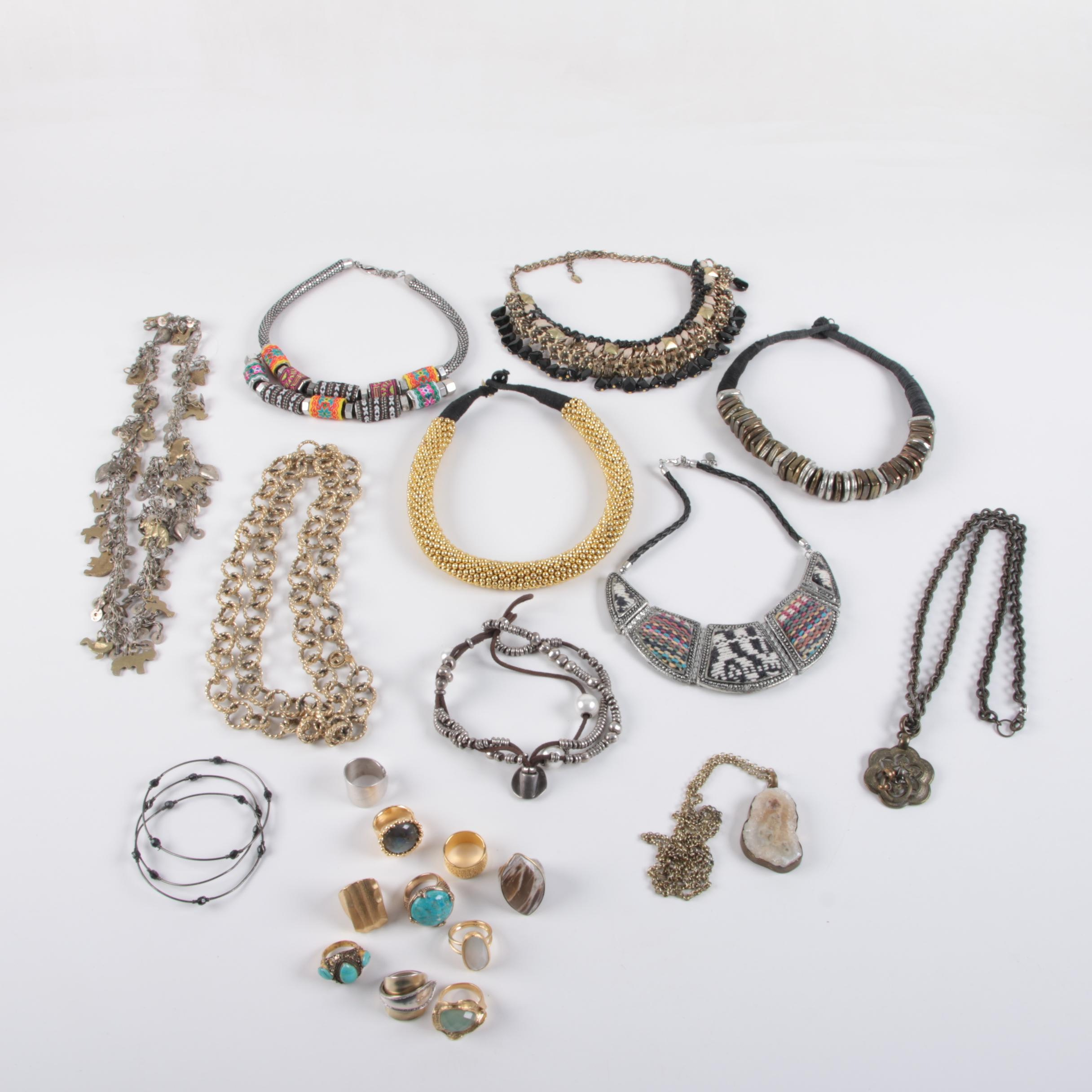 Jewelry Assortment Including Uno de 50 and Zara