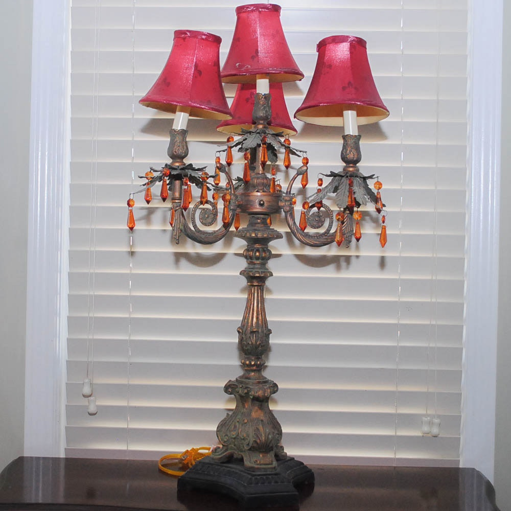 Neoclassical Style Candelabra Lamp