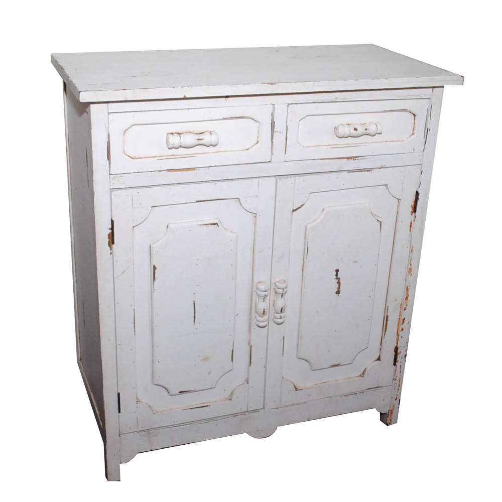 Vintage Distressed Buffet Cabinet