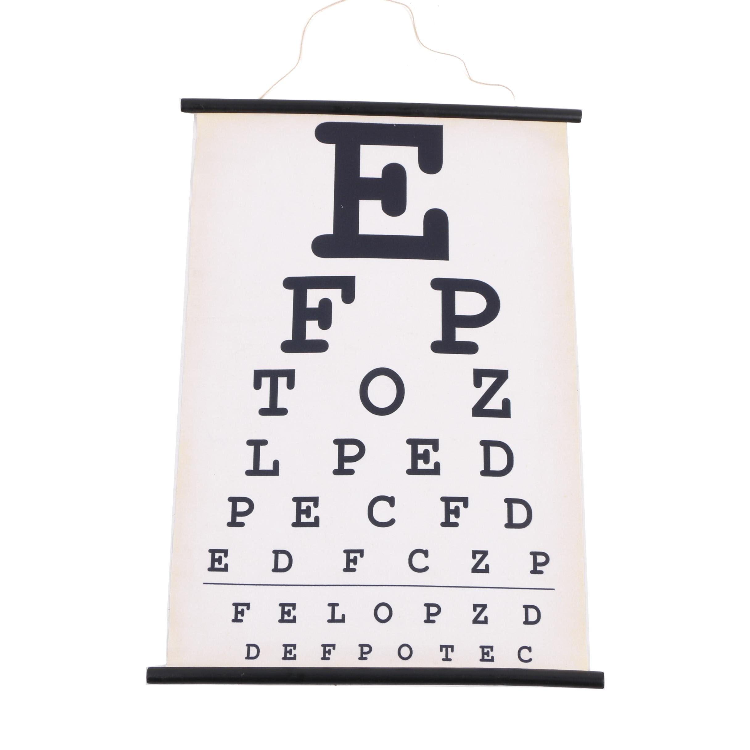 Fabric Optometry Chart
