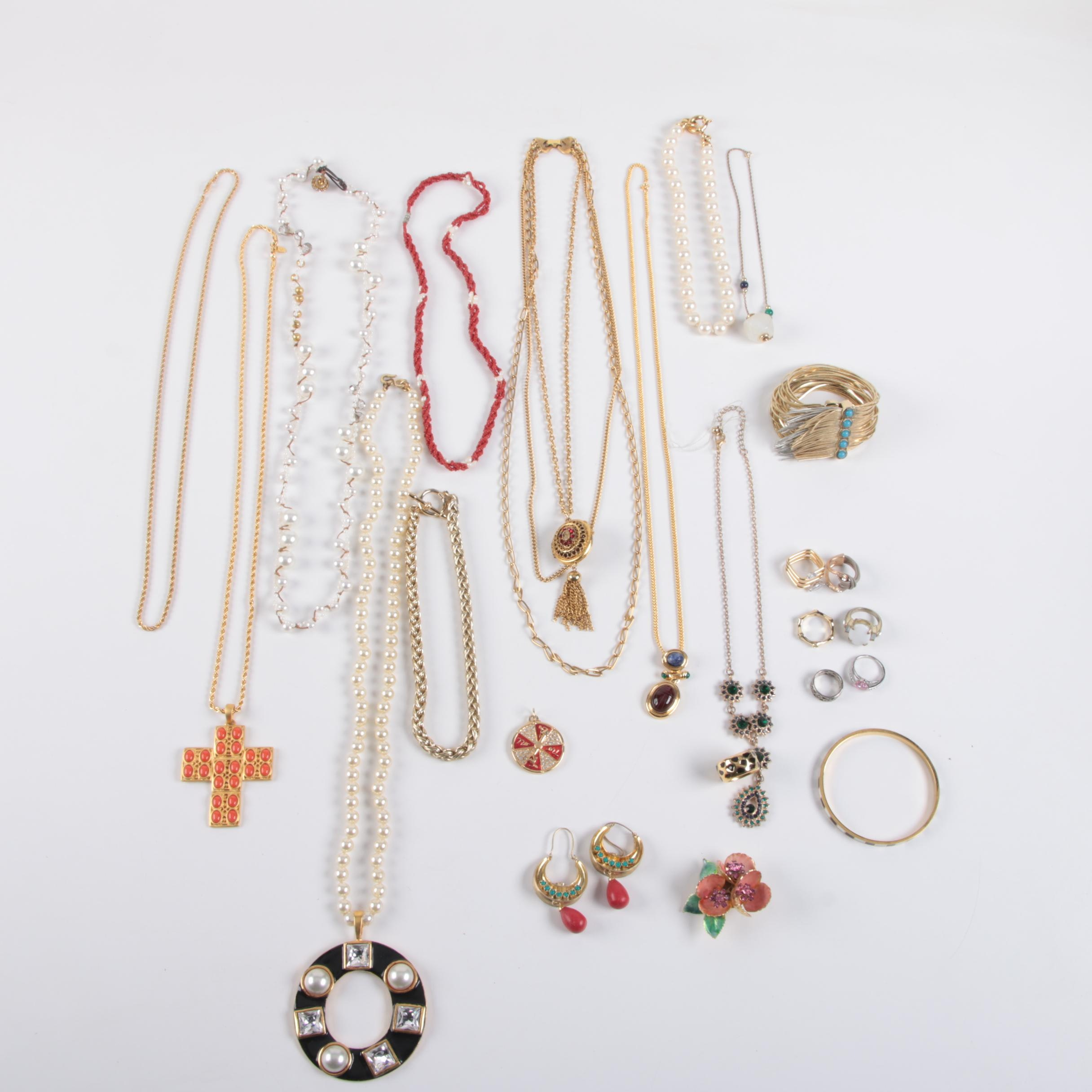 Assortment of Jewelry Including Weiss and Kate Spade