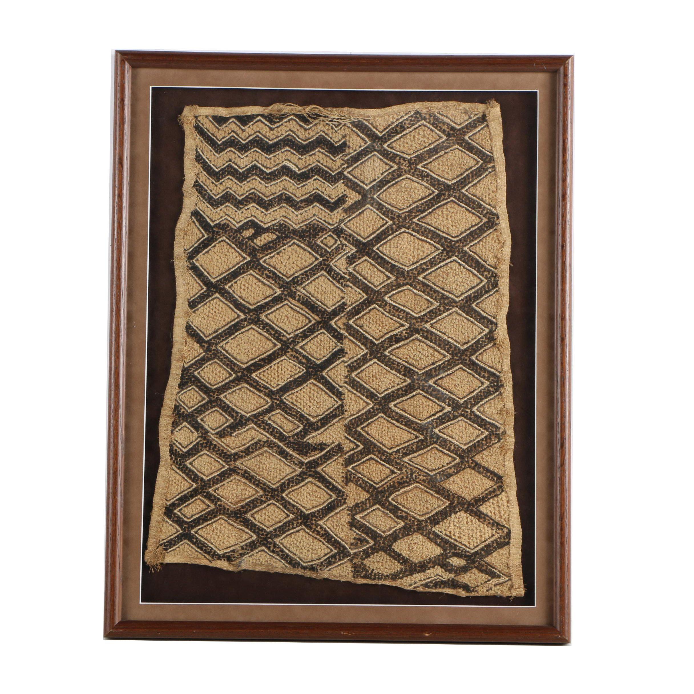 Kuba Cloth Raffia Textile