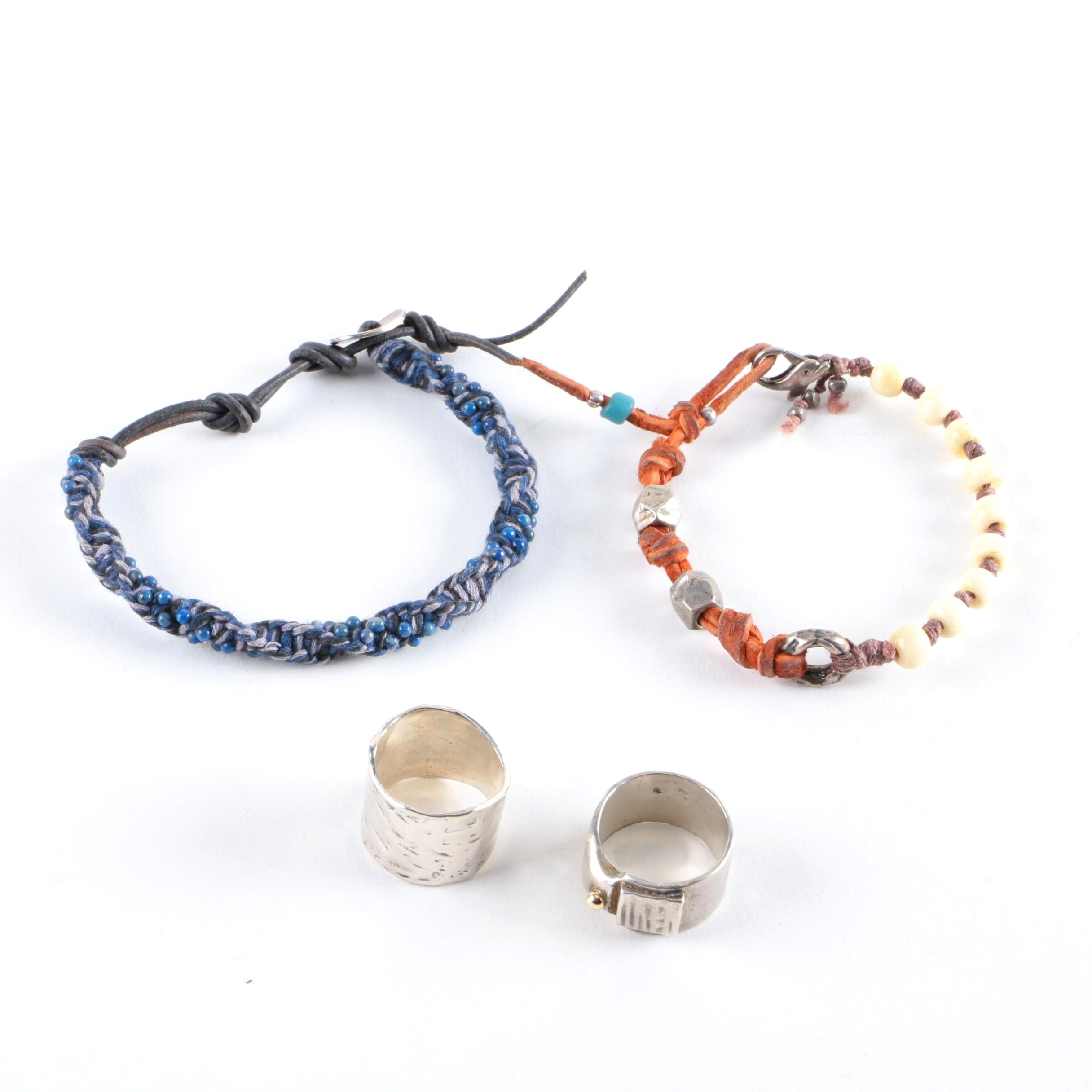Sterling Silver Rings and Bracelets Including Chan Luu