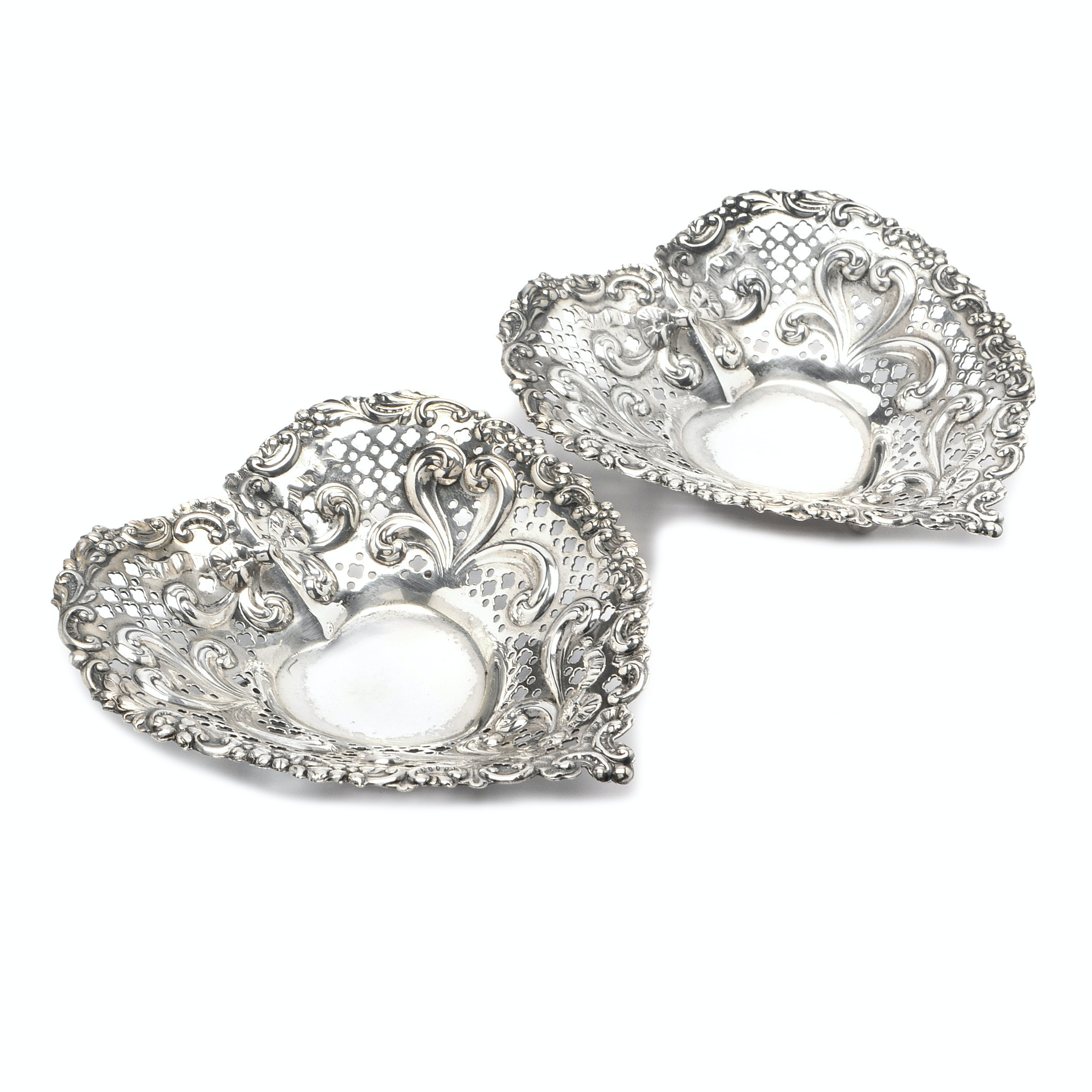 Gorham Sterling Silver Heart-Shaped Bowls