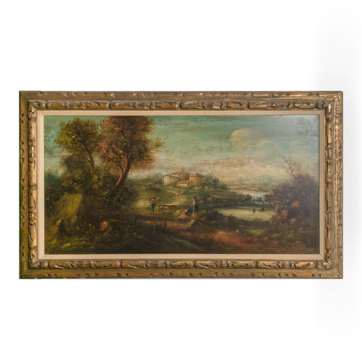 C. Patin Oil Painting Landscape with Figures