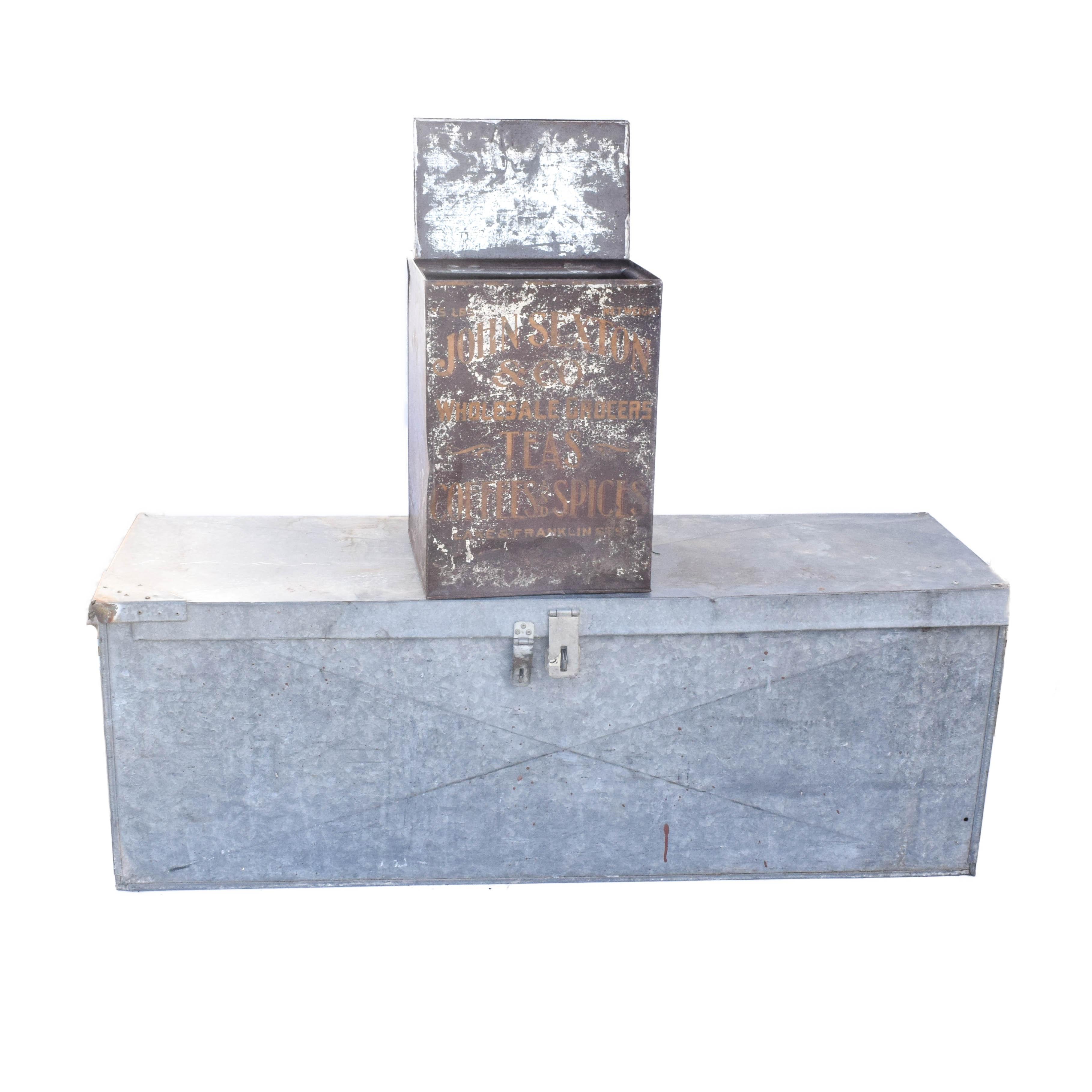 Vintage Industrial Metal Boxes
