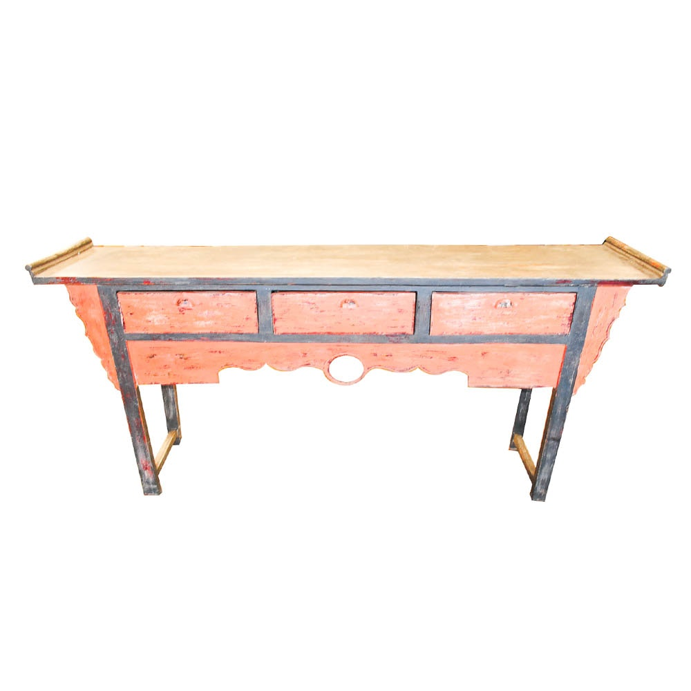 Chinese Painted Altar / Console Table