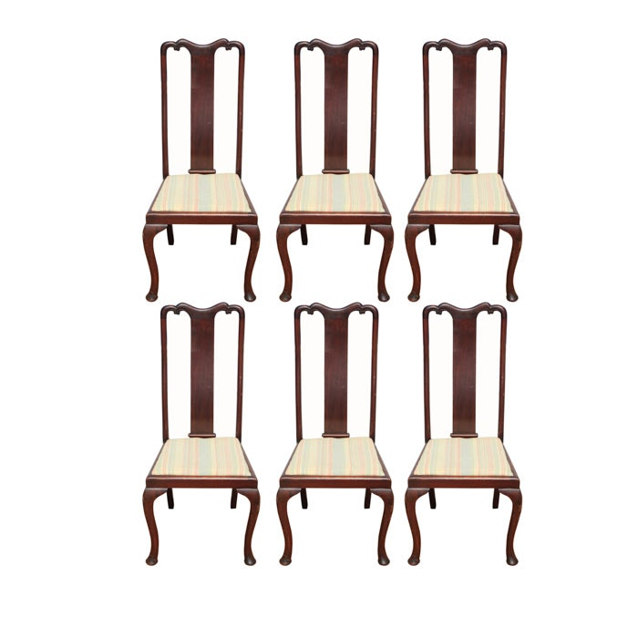 Set of Six Queen Anne-Style Chairs