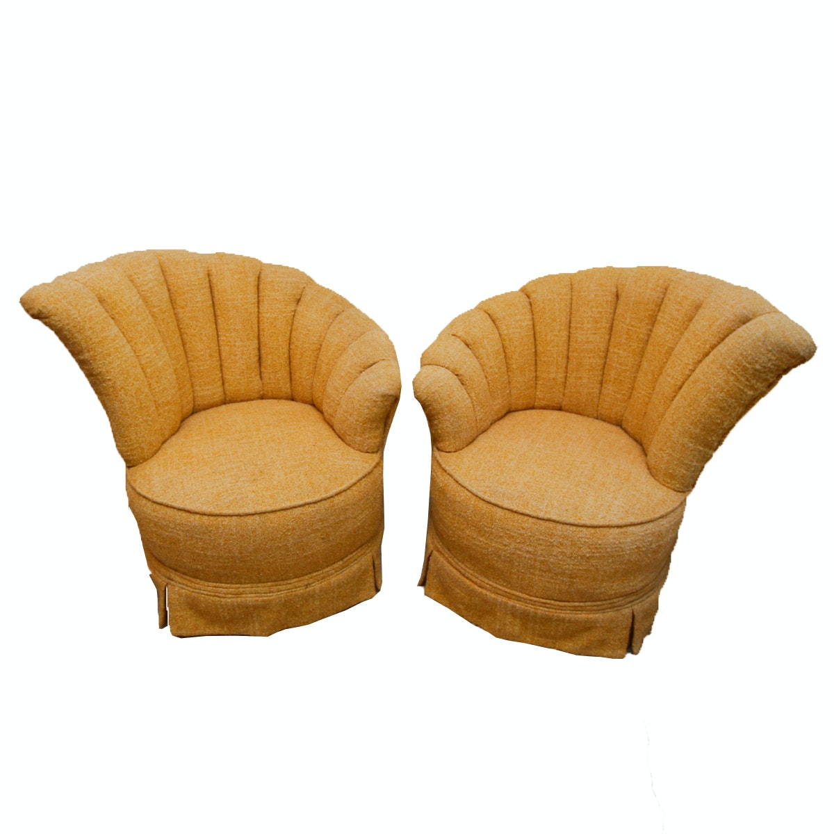 Pair of Vintage Hollywood Regency Style Accent Chairs