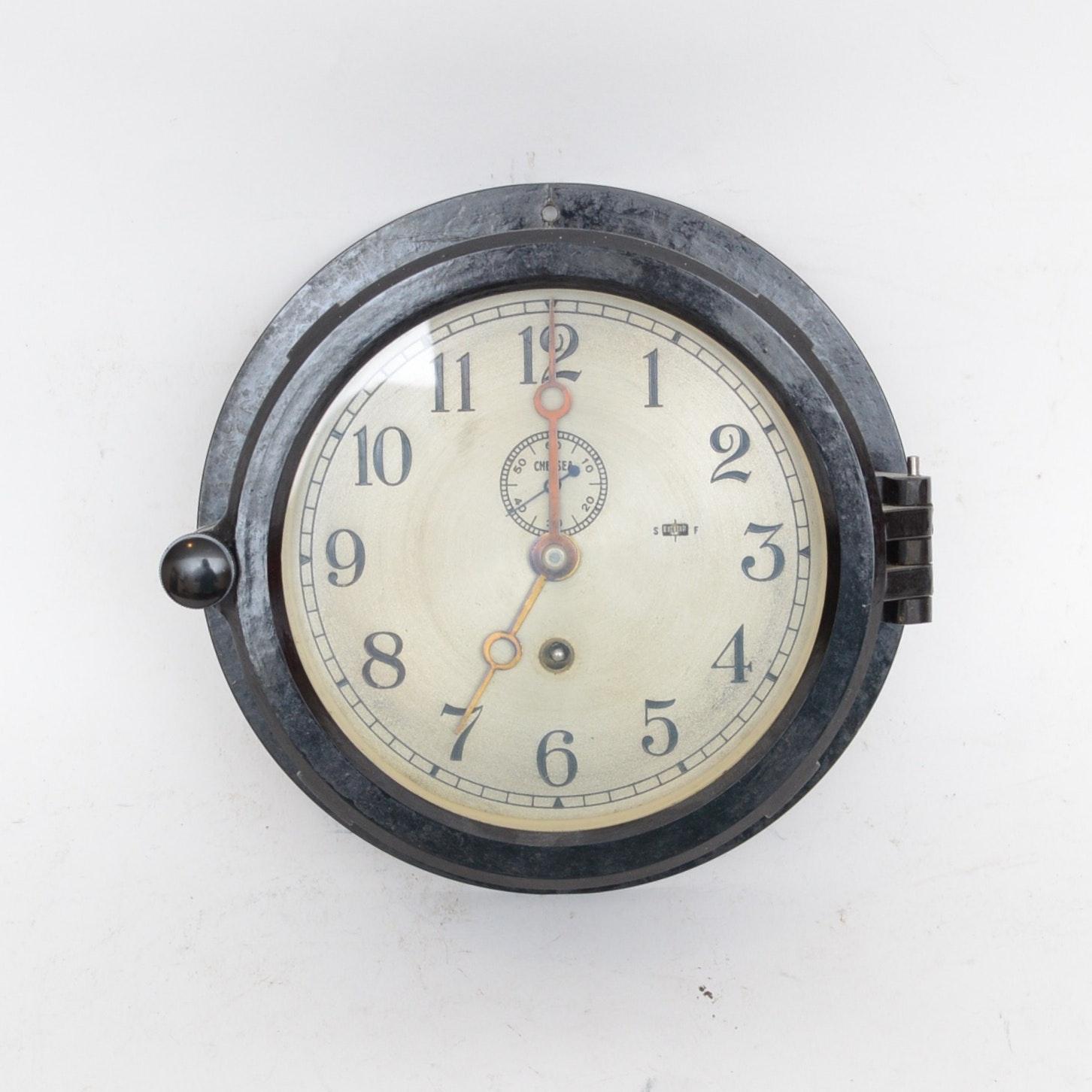 Chelsea Boston Ship's Clock, circa 1970-1974
