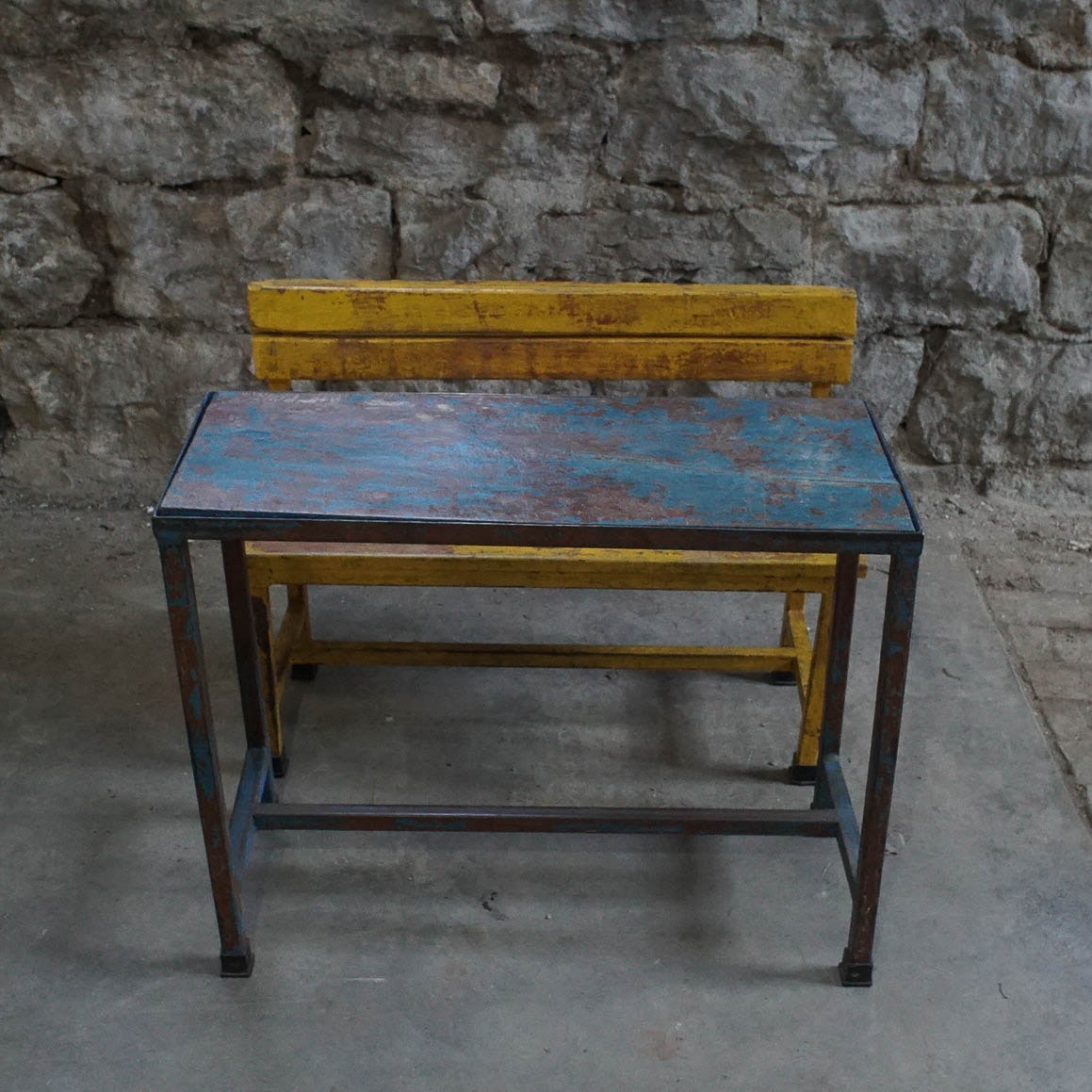 Vintage Kids Bench And Table ...