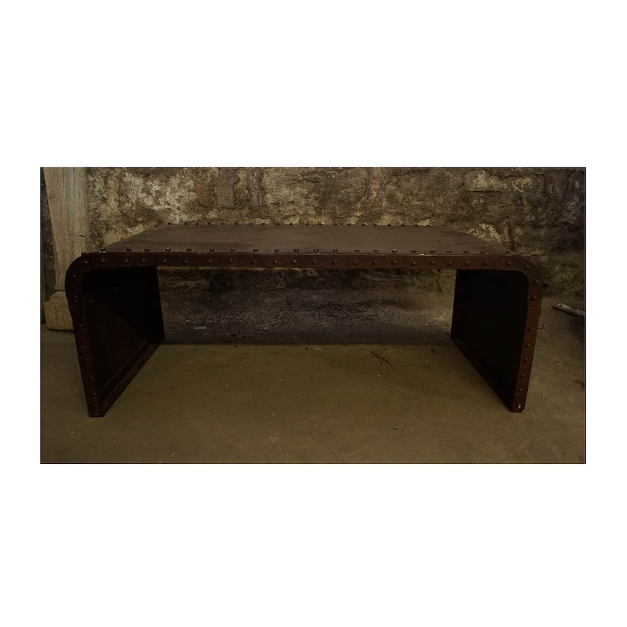 Modern style metal coffee table ebth for Modern chic coffee tables