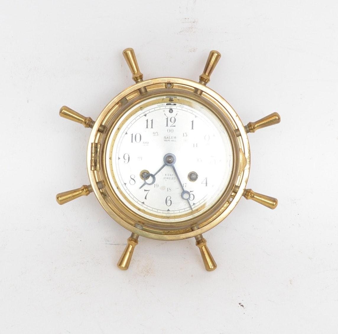 Salem Ship's Bell Clock