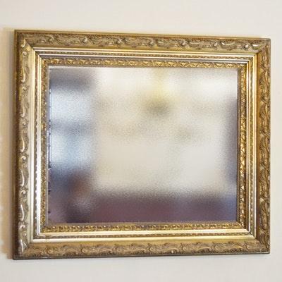 Carved Gilt Rectangular Wall Mirror