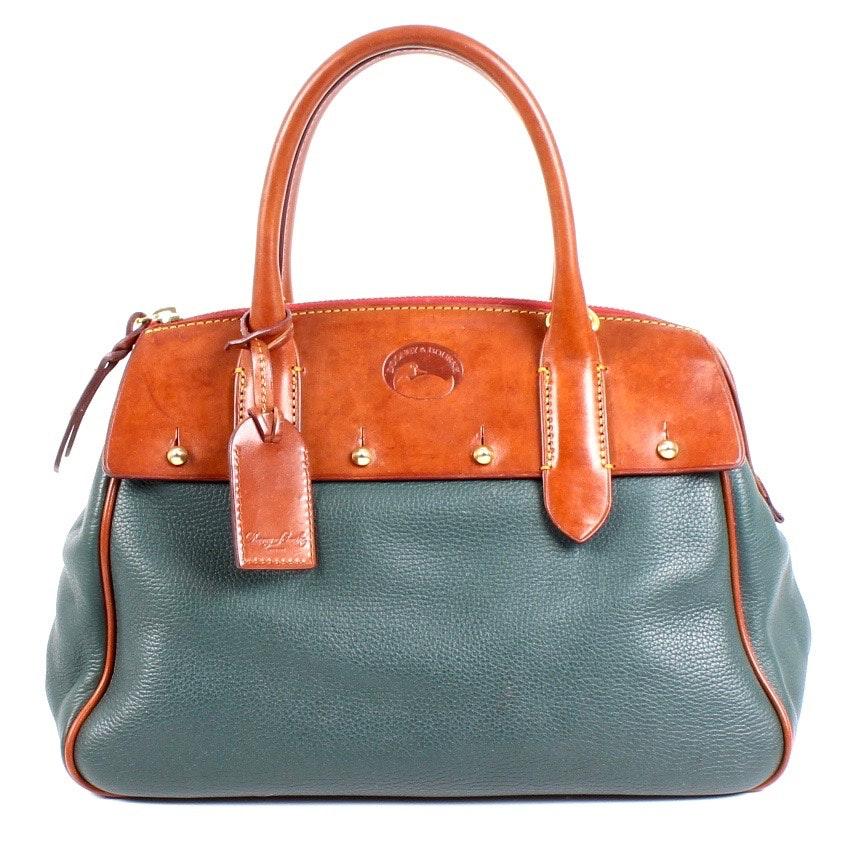 Dooney & Bourke Green Leather Handbag