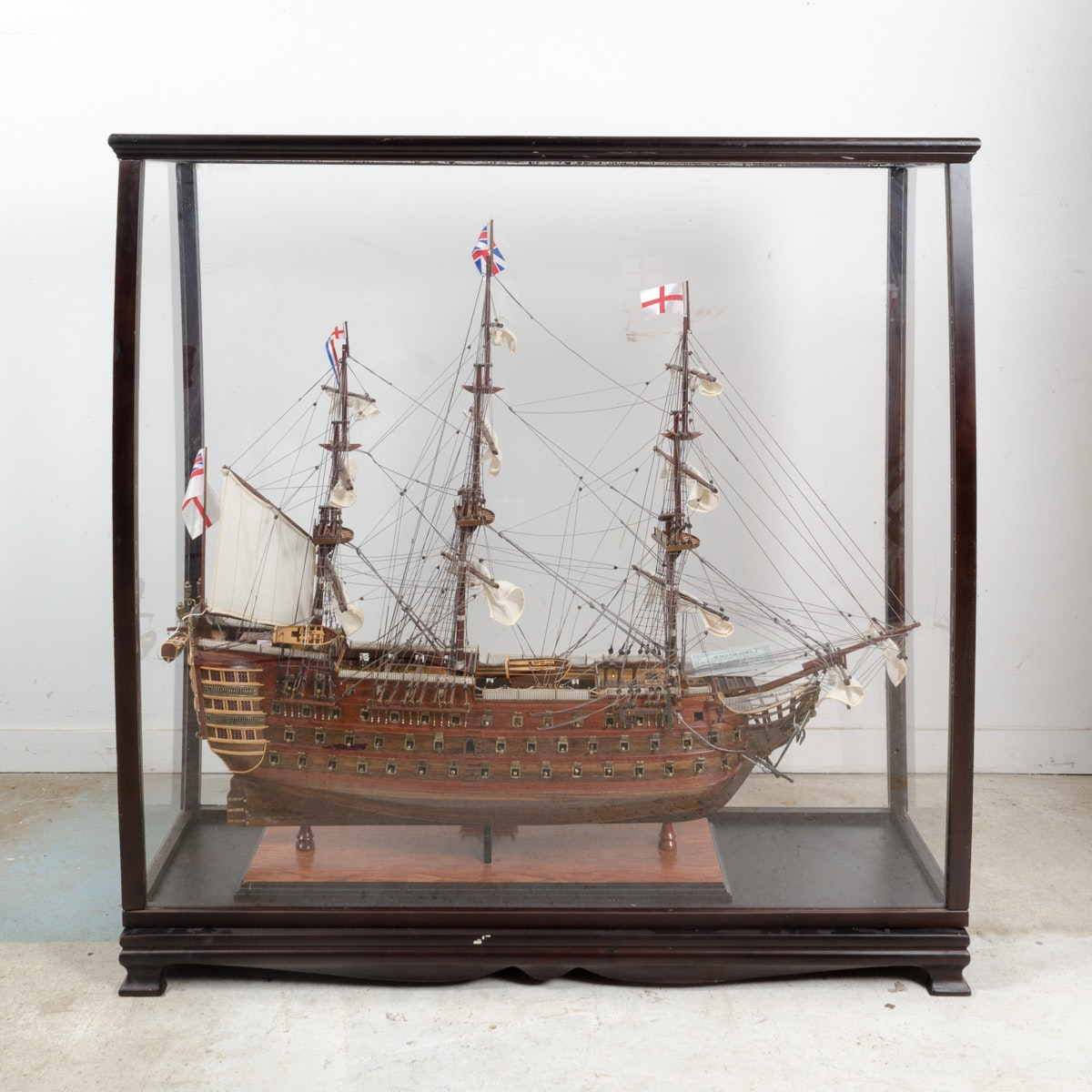 Model H.M.S Victory Ship in Wood Display Box