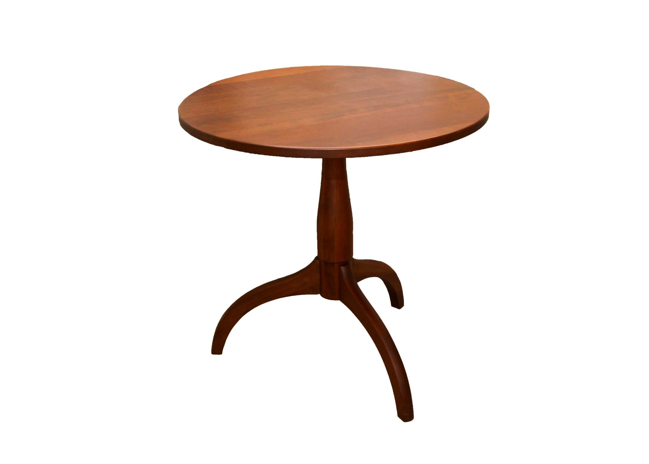 Amish Hand Crafted Round Pedestal Accent Table