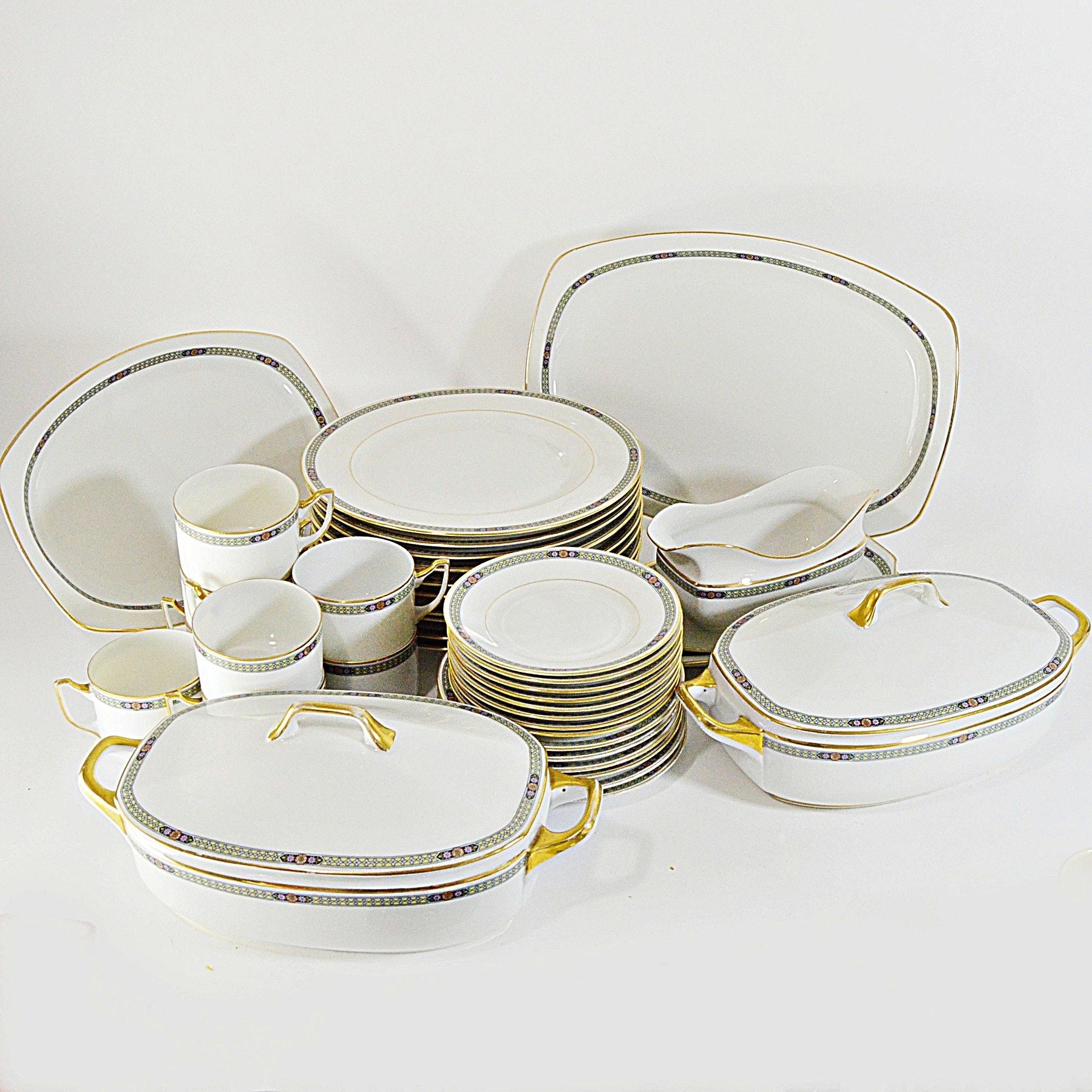 Set of Vintage Czechoslovakian Epiag Porcelain Dinnerware
