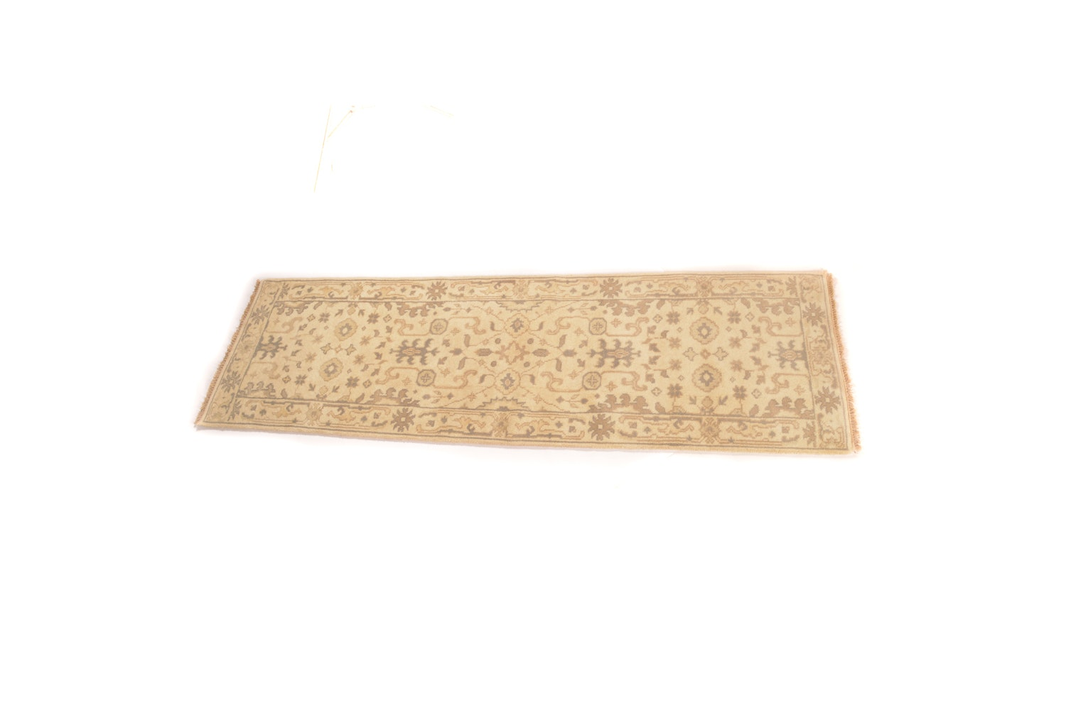 A Hand-Knotted Indo-Persian Wool Carpet Runner