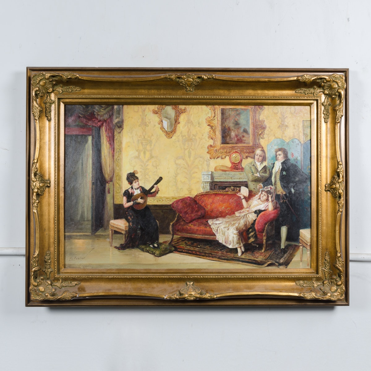 """B. Fraser Copy Painting after Vicente Palmaroli's """"The Concert"""""""