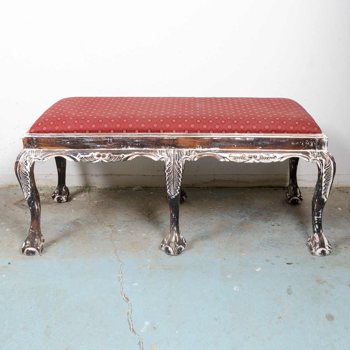 Chippendale Style Upholstered Bench