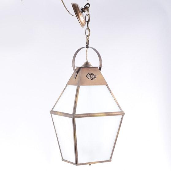 Lantern Style Copper Pendant Light