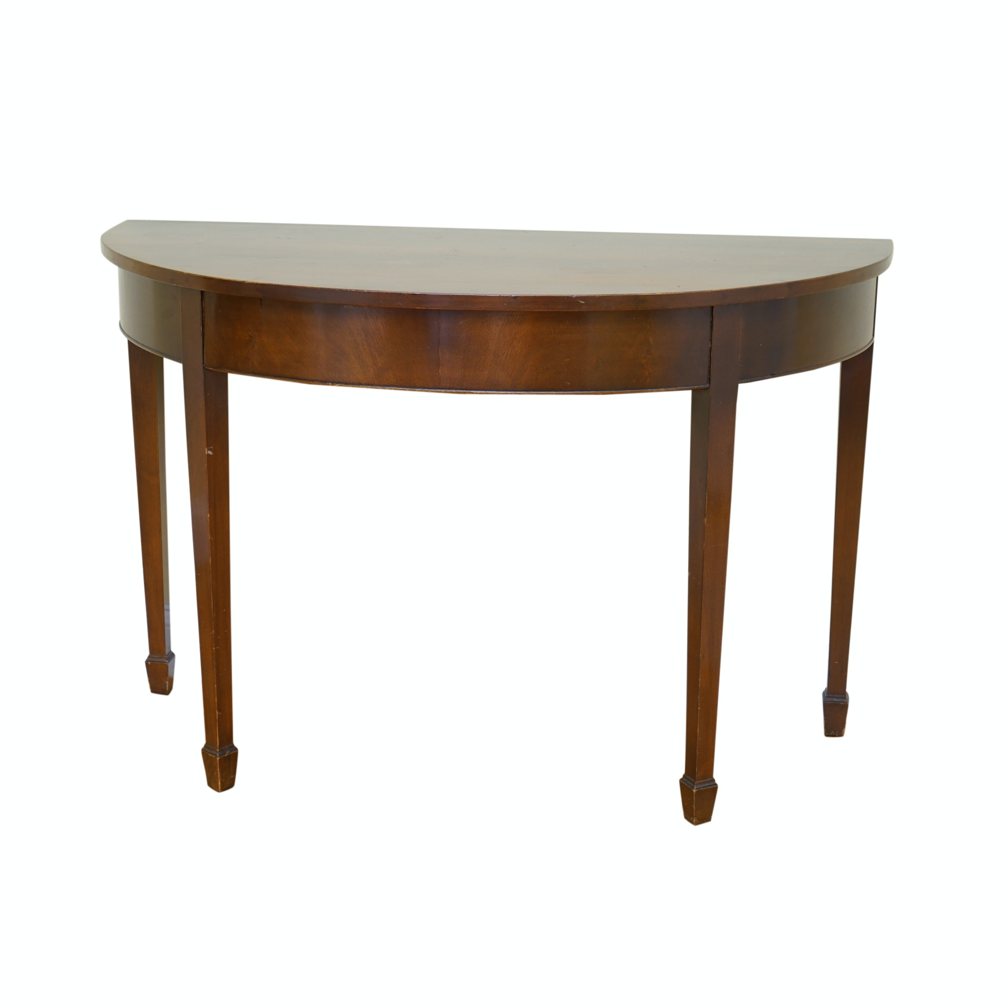 Federal Style Mahogany Demilune Table