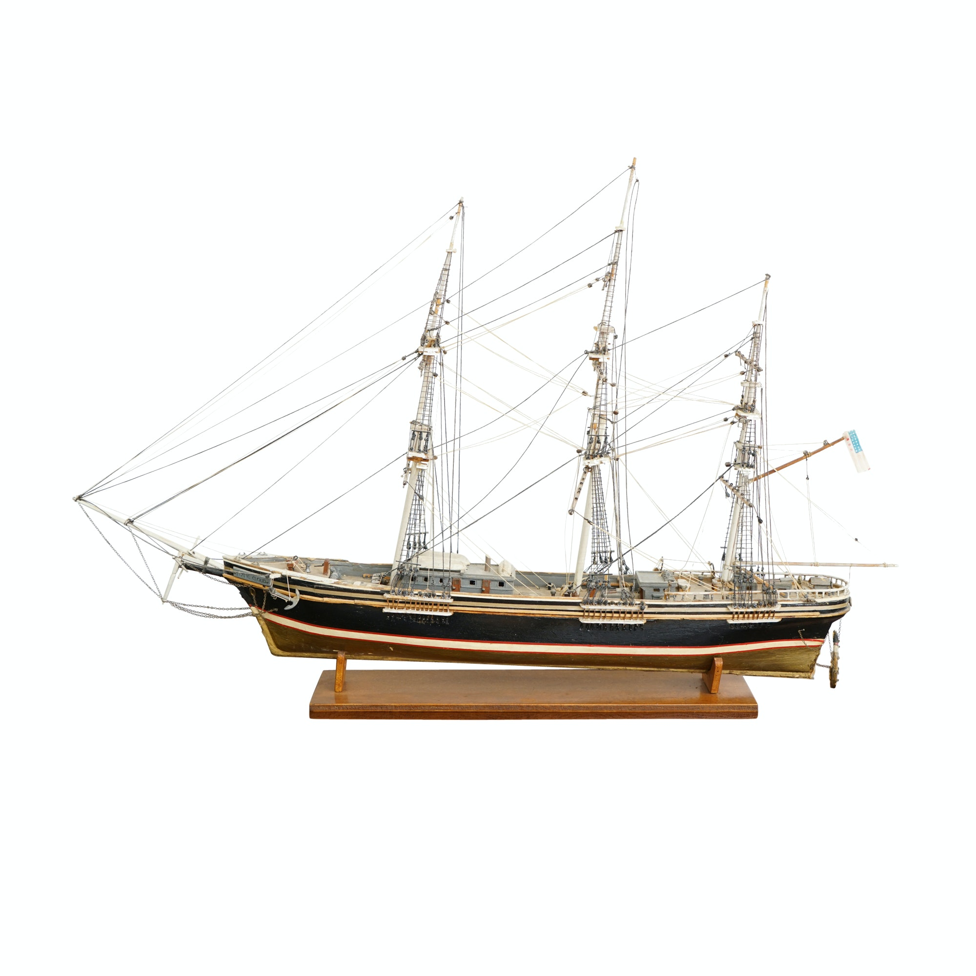 """Flying Cloud"" Schooner Ship Model"