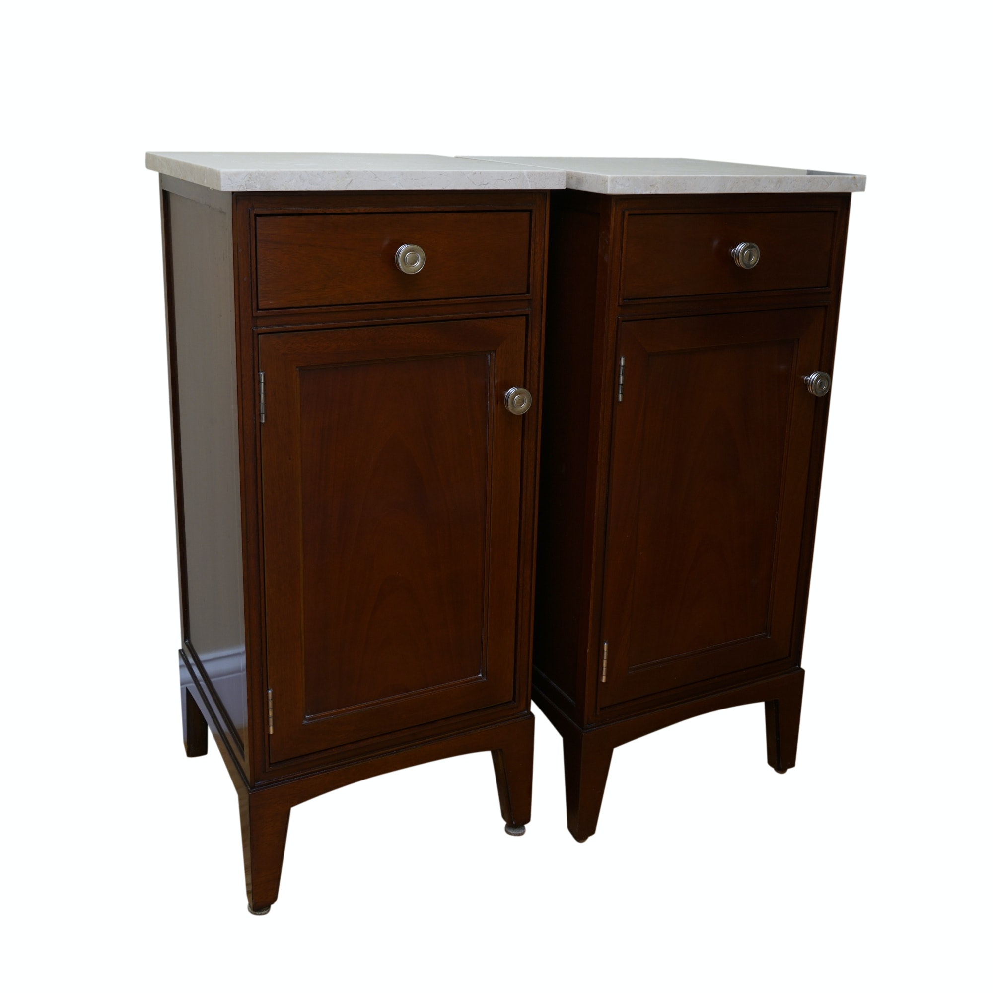 Pair of Stone Top Cabinets from Waterworks
