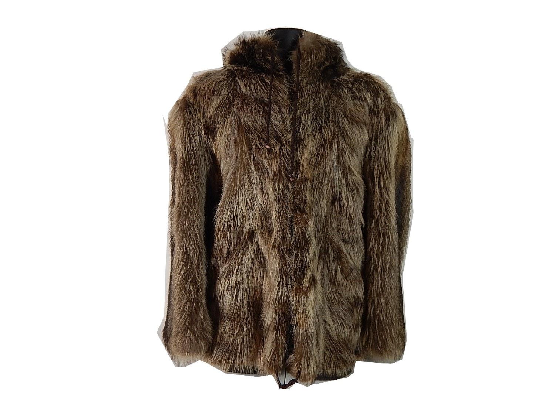 Nieman Marcus Mens Long Hair Beaver Hooded Fur Jacket
