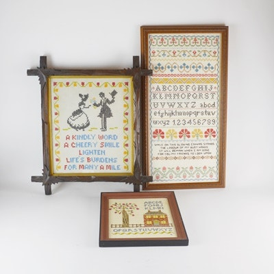 Cross-Stitched Sampler Collection