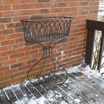 Iron Oval Patio Planter or Plant Stand