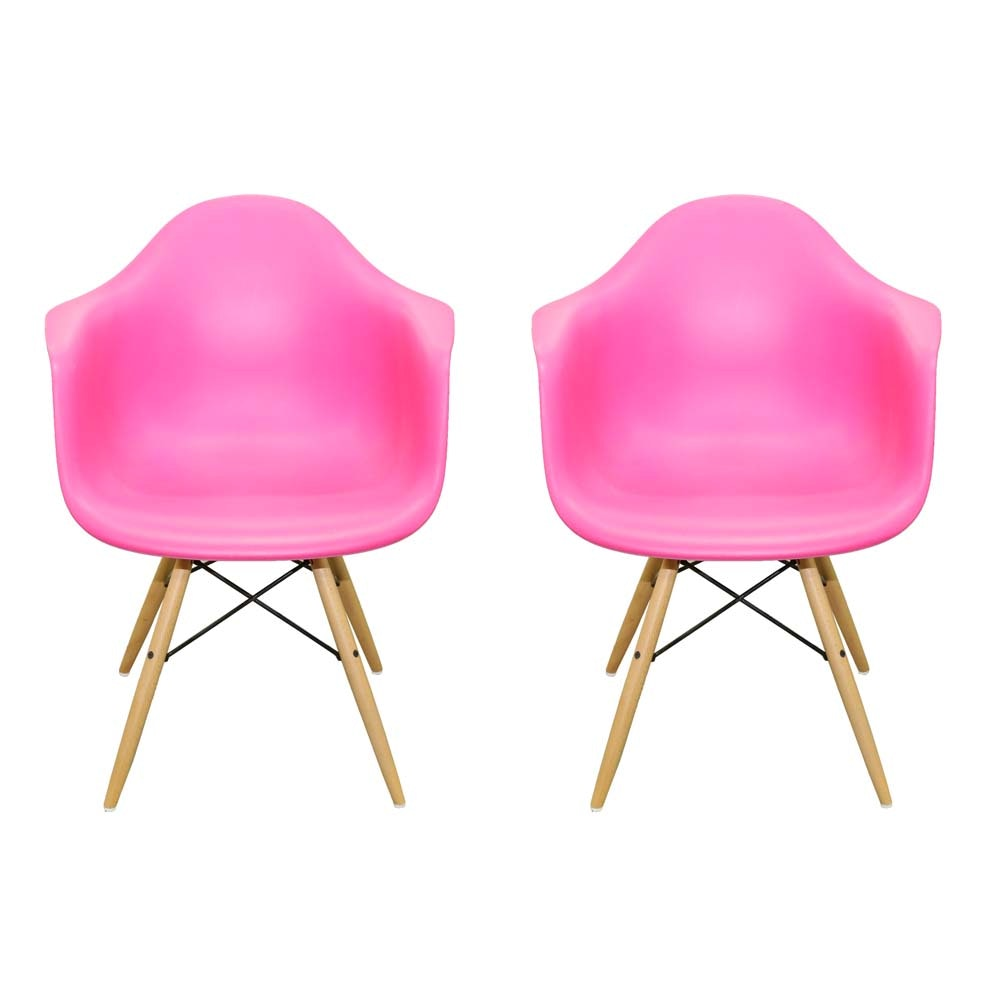 Mid Century Modern Eames Style Molded Shell Chairs