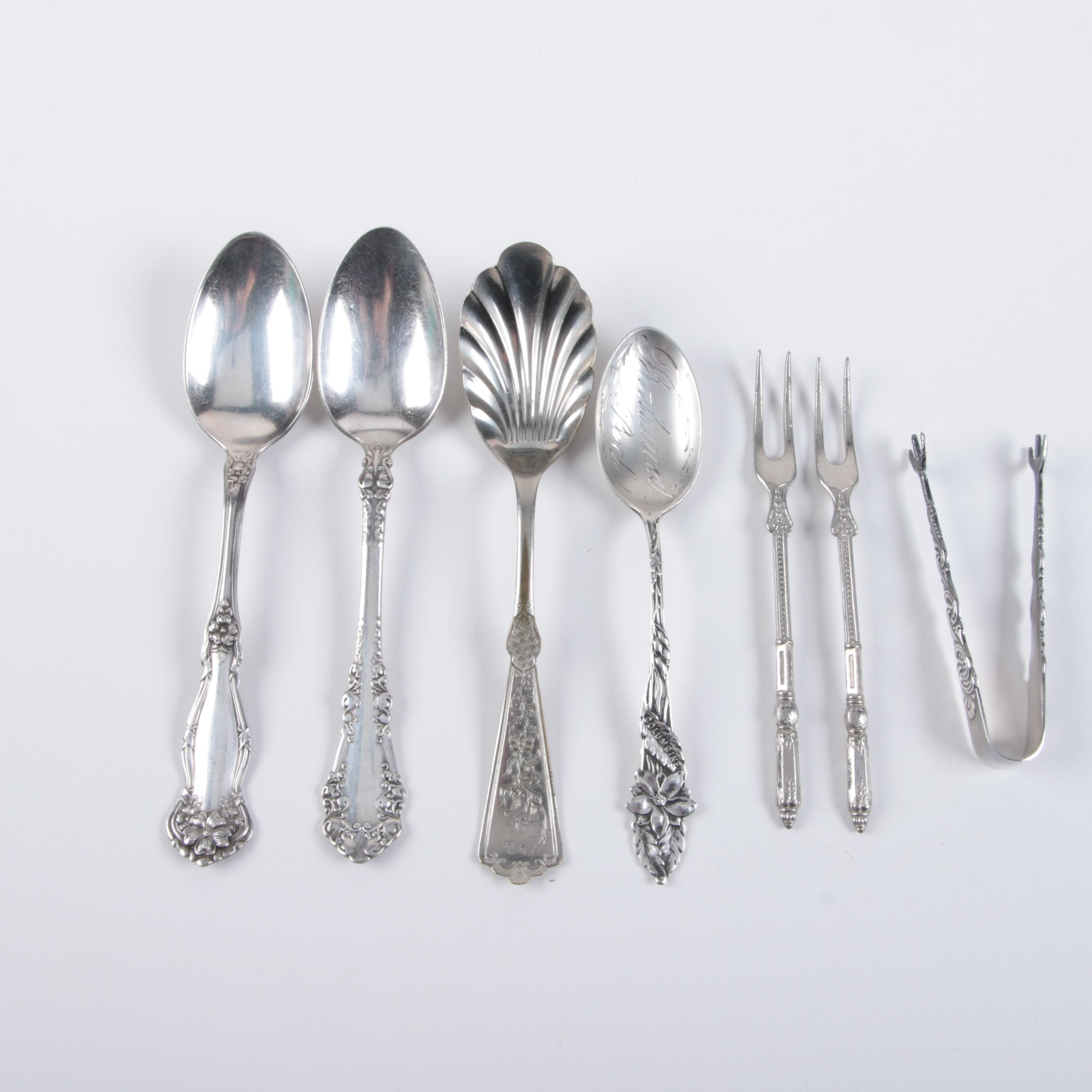 Silver-Plated Flatware with Sterling Silver Spoon