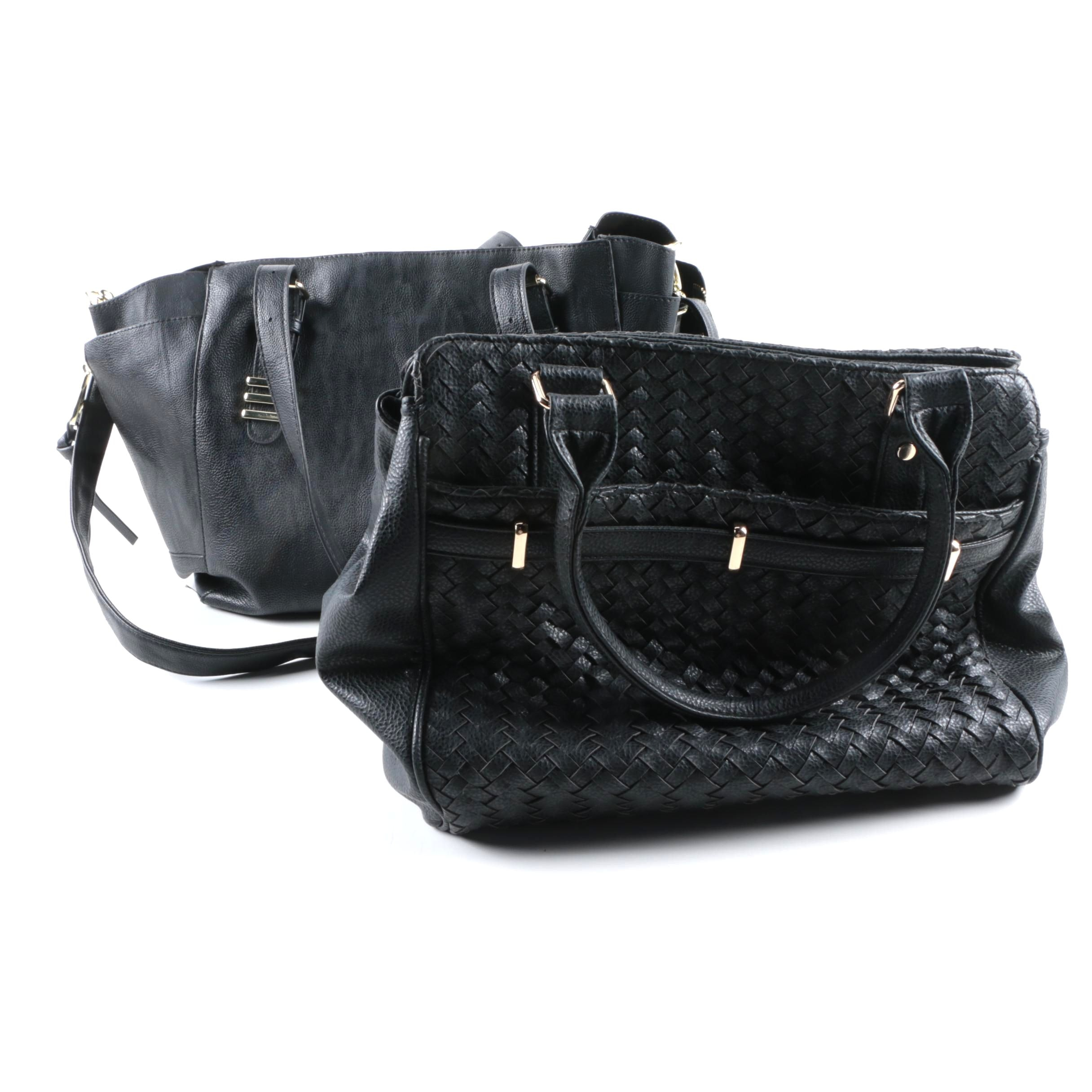 Steve Madden and Deux Lux Black Leather Handbags