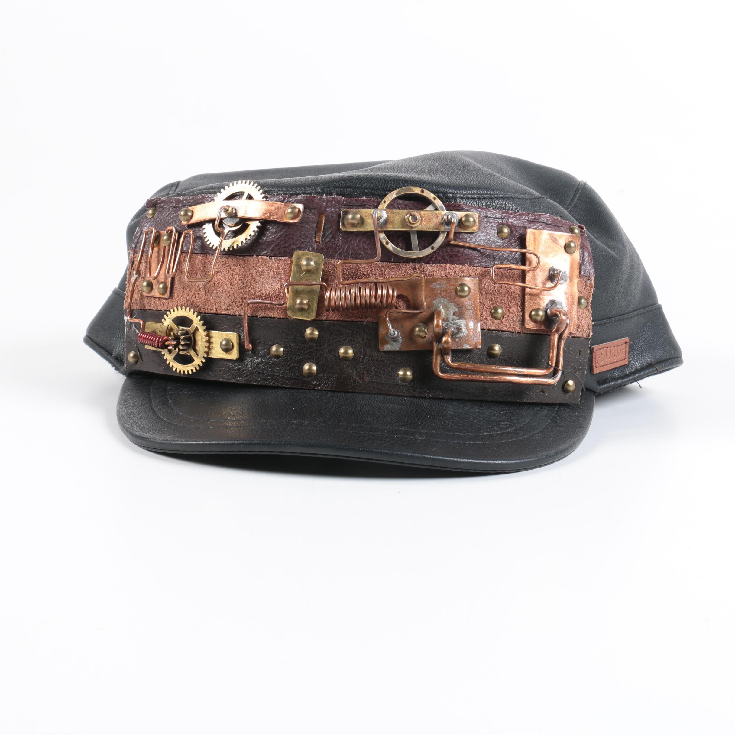 Major Wear Steampunk Style PVC Biker Cap