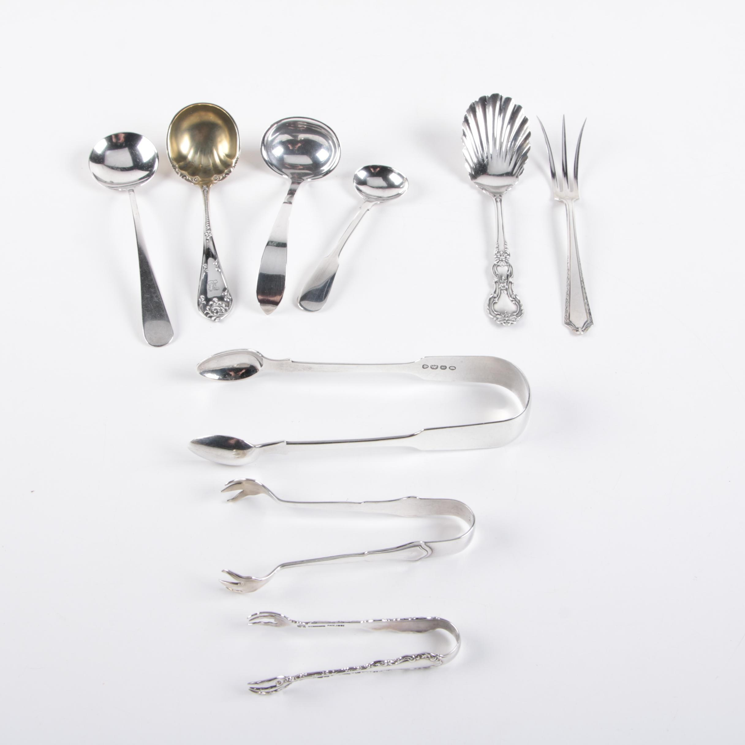 Early 19th Century English Sterling Flatware with Towle and Other Sterling