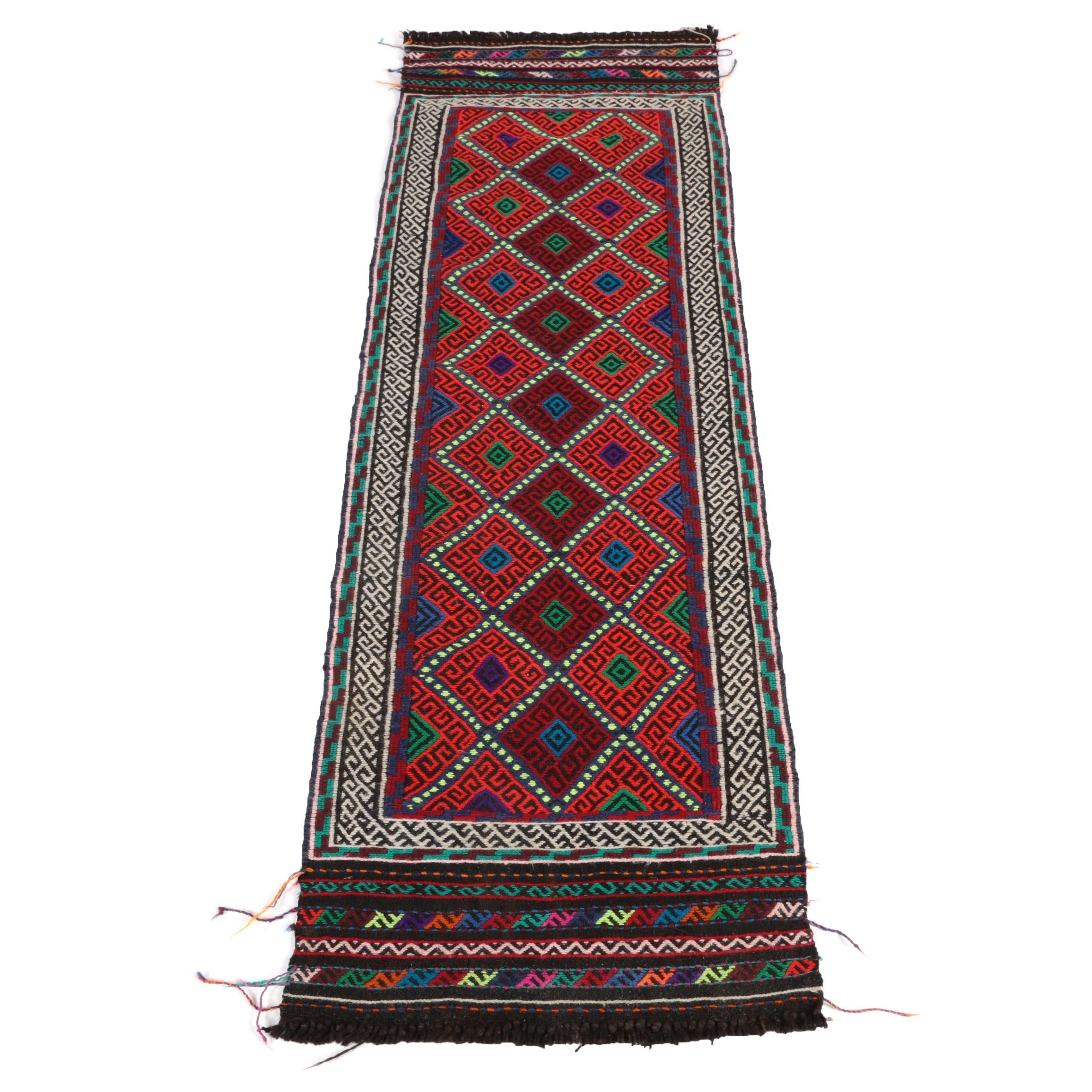 Hand-Knotted North African Carpet Runner