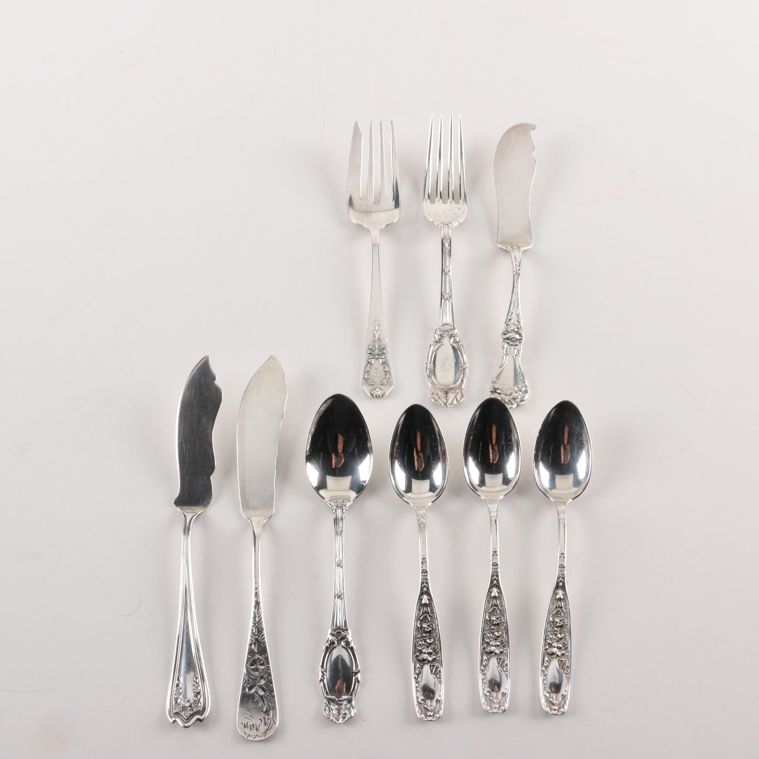 "Reed & Barton ""Empire"" Sterling Spoons with Other American Sterling Flatware"