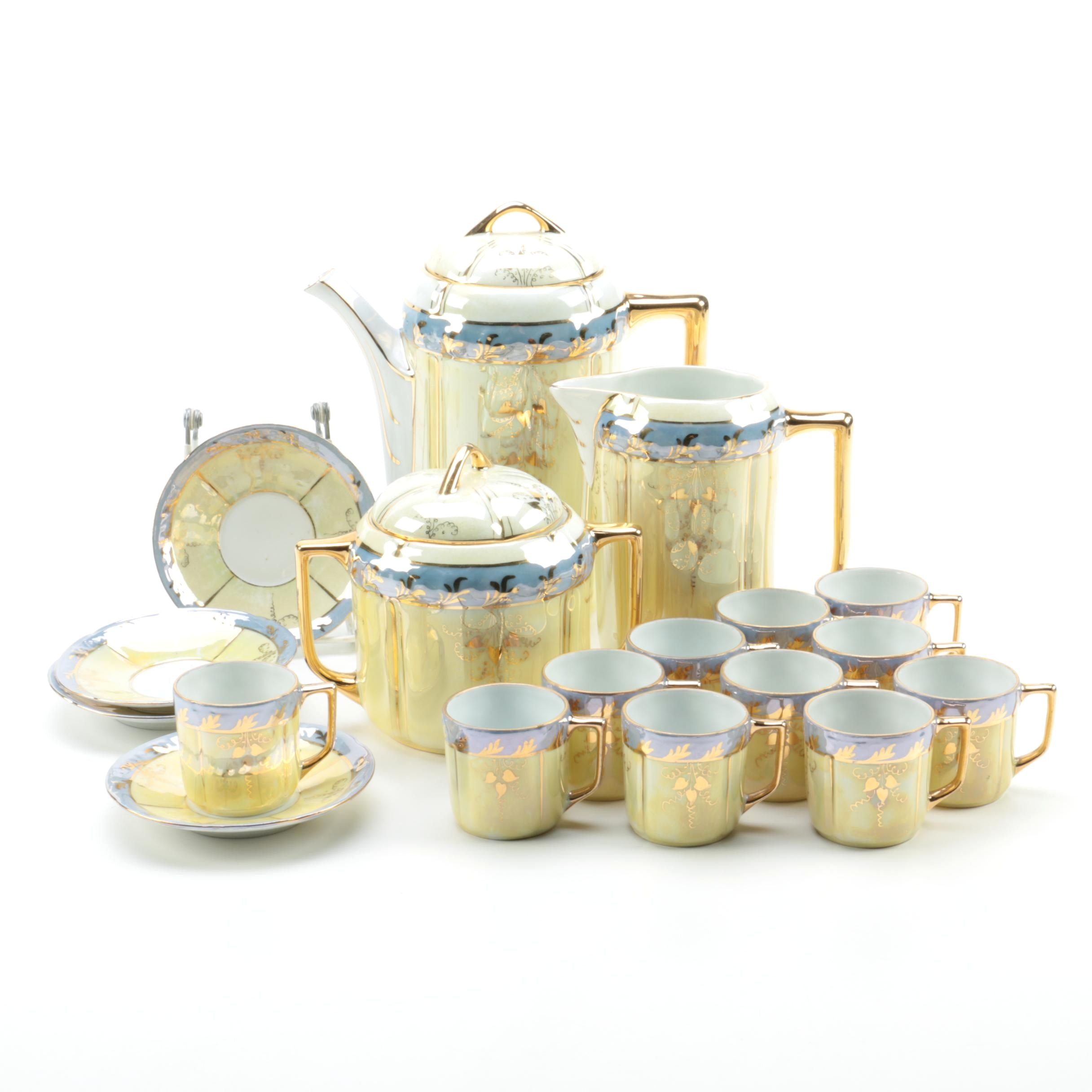 SCH Handmalerei Lusterware Tea Set