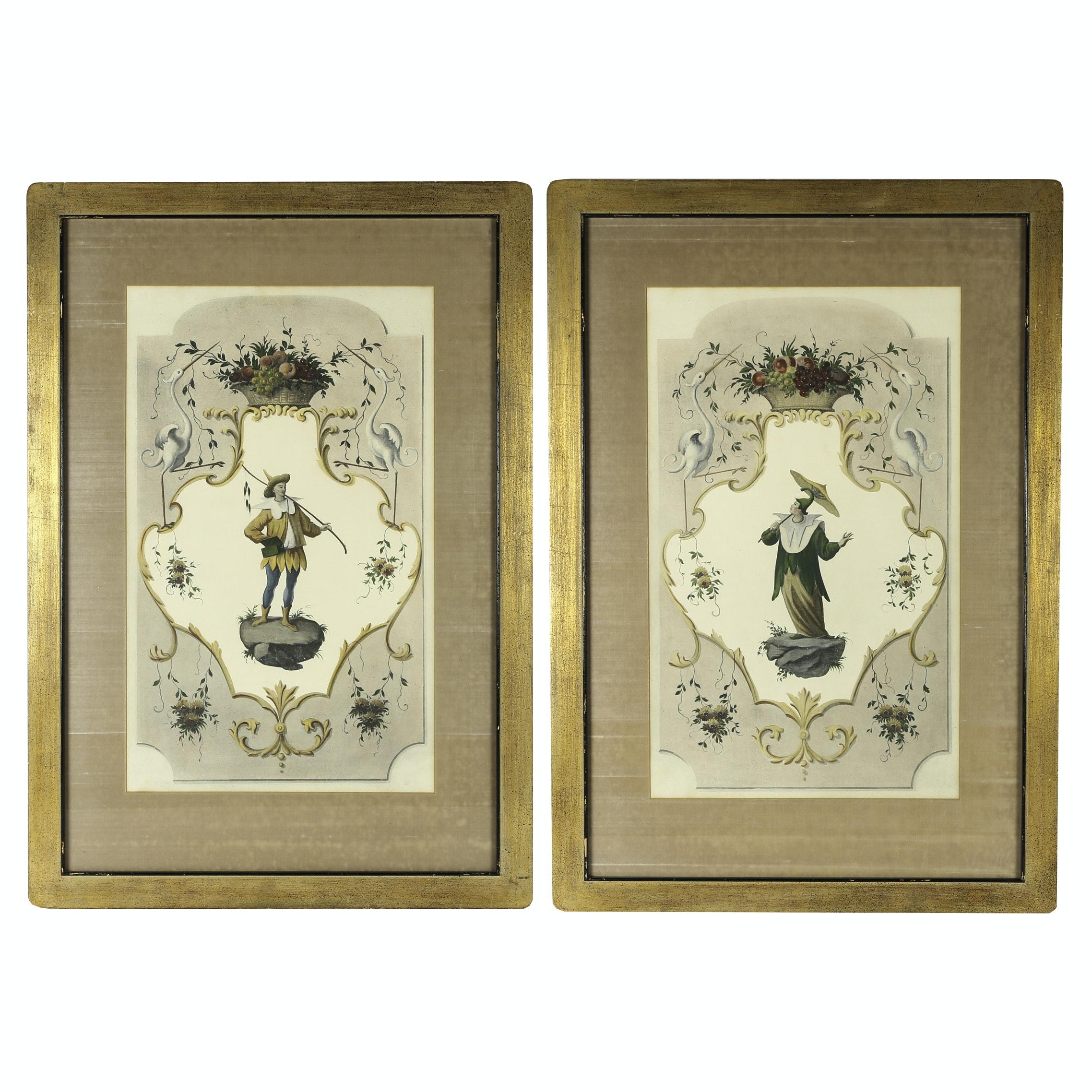 Vintage Venetian Inspired Offset Lithographs