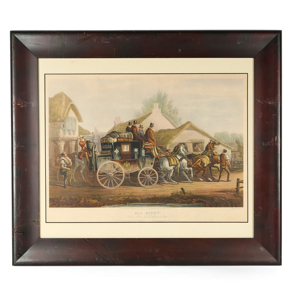 "Reproduction Offset Lithograph After C.C. Henderson ""All Right"""