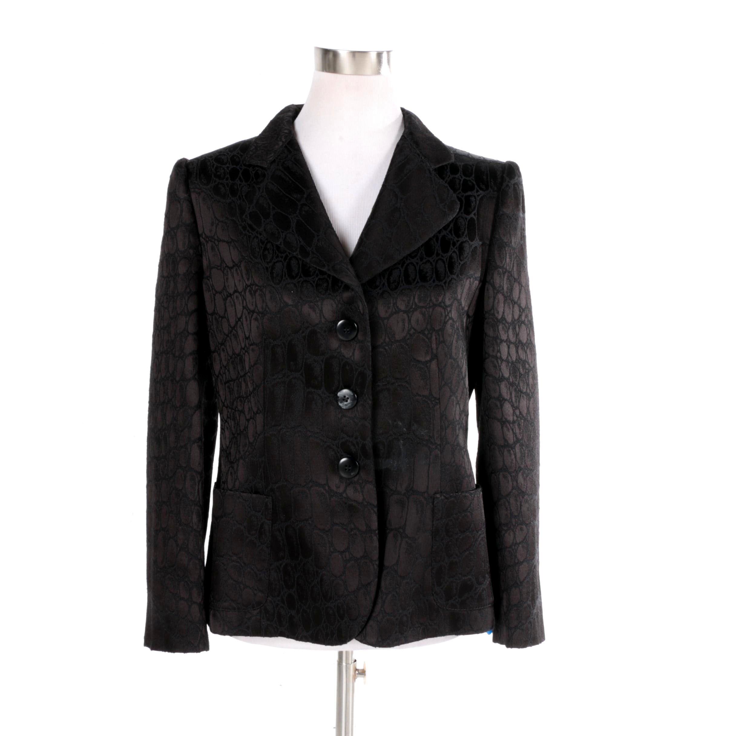 Women's Armani Collezioni Black Wool Blend Suit Jacket