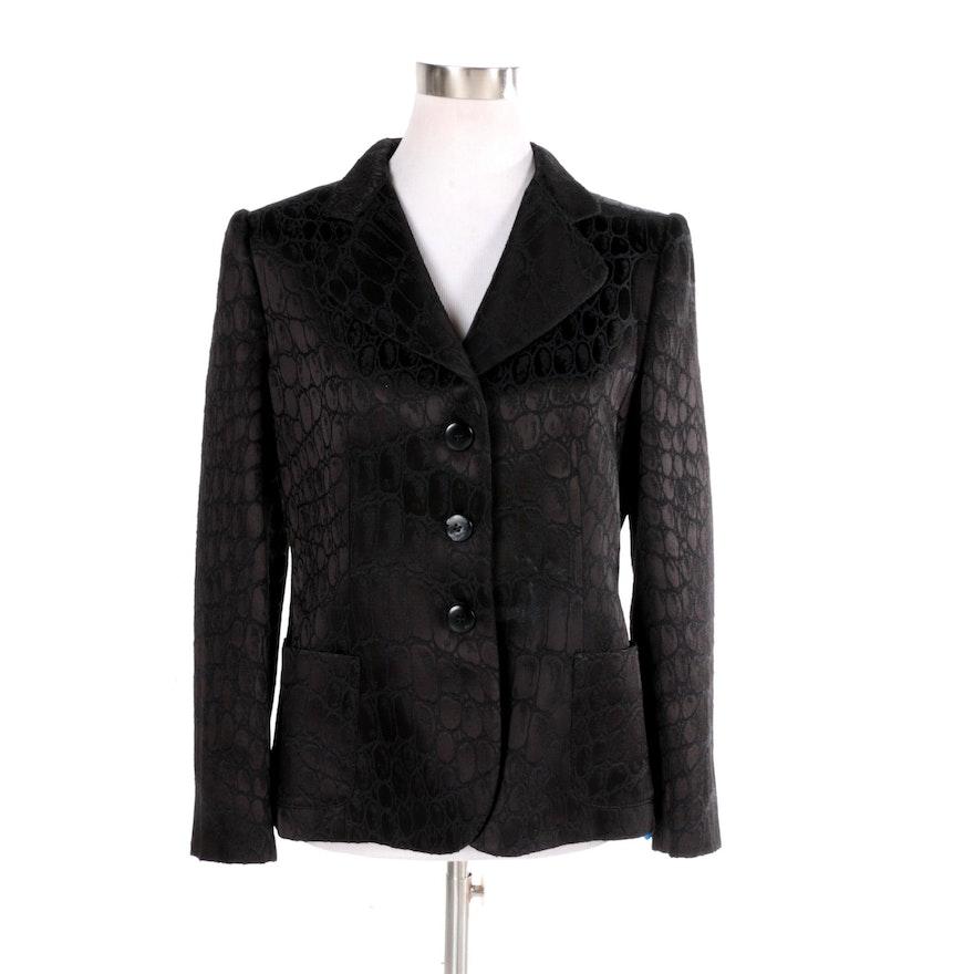 744a946e90de Women's Armani Collezioni Black Wool Blend Suit Jacket : EBTH