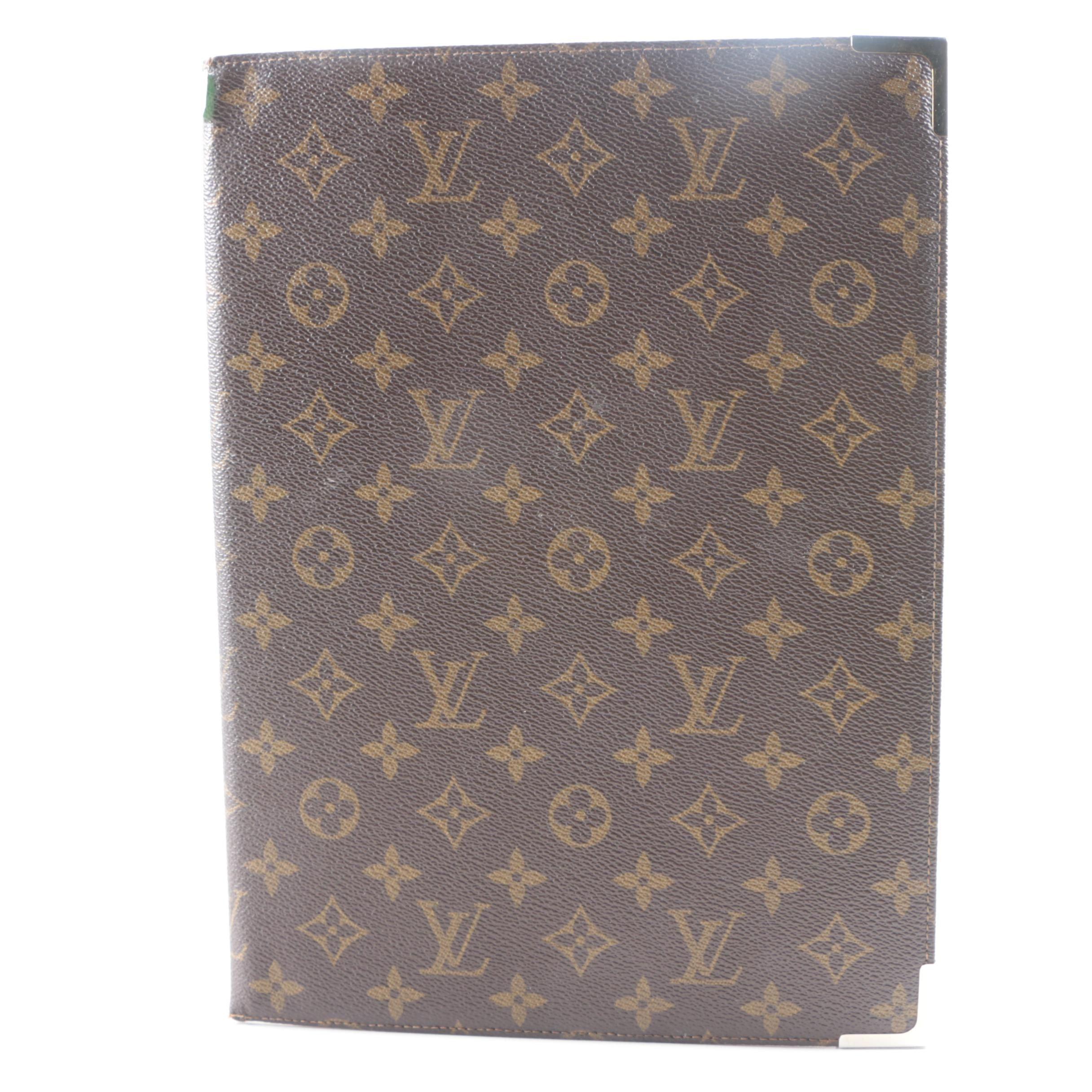 Vintage Louis Vuitton Signature Canvas and Leather Portfolio