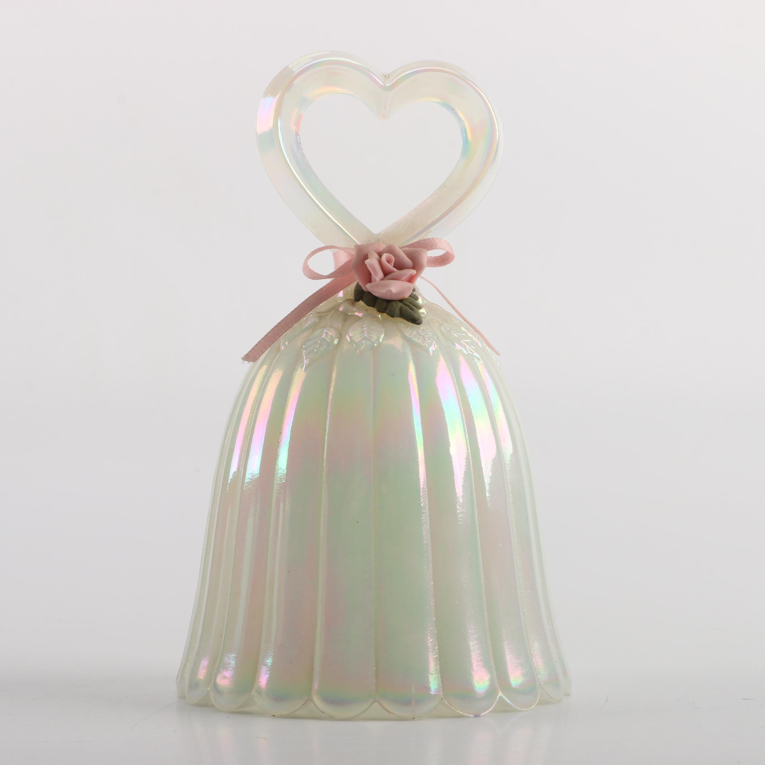 "Fenton ""Pearly Sentiments"" Glass Bell"